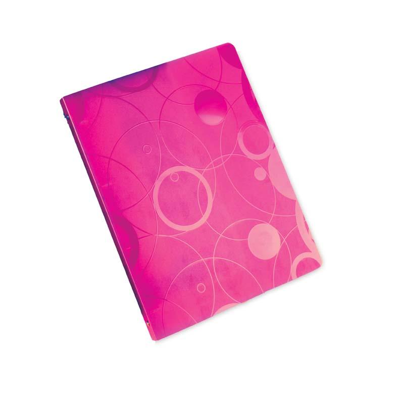 Desky A4 kroužkové NeoColori - 4 - kroužek / růžová