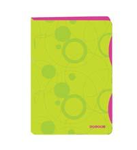Desky A4 kroužkové DuoColori - 4 - kroužek / zeleno-růžová