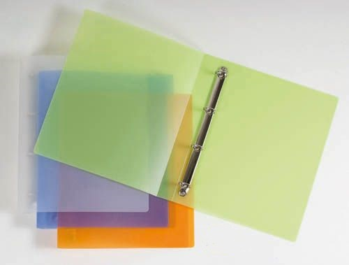 Desky A4 kroužkové Opaline - 4 - kroužek / oranžová