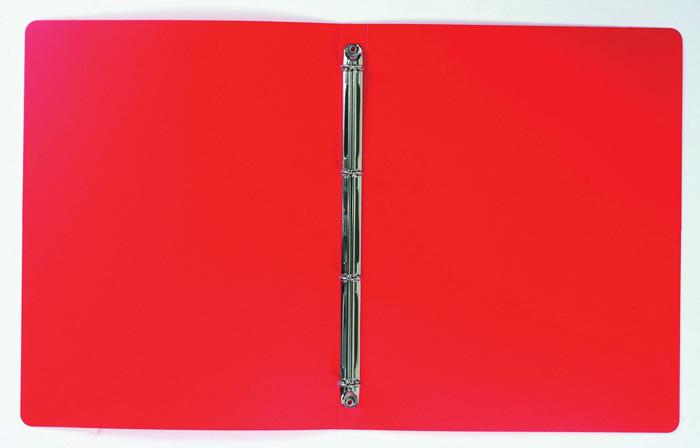 Desky A4 kroužkové neprůsvitné - 4-kroužek / červená