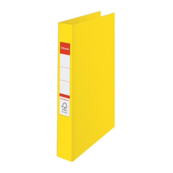 Pořadač A4 kroužkový celoplastový -4 - kroužek / žlutá