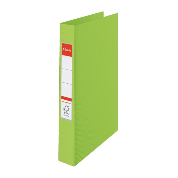 Pořadač A4 kroužkový celoplastový -4 - kroužek / zelená
