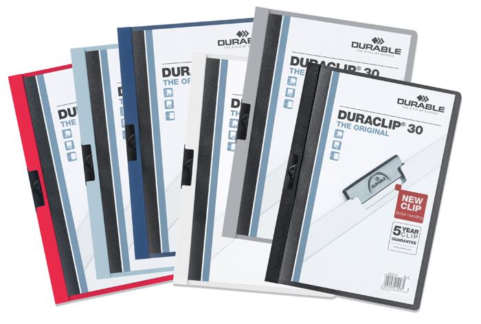 Desky A4 Duraclip - kapacita 30 listů / červená