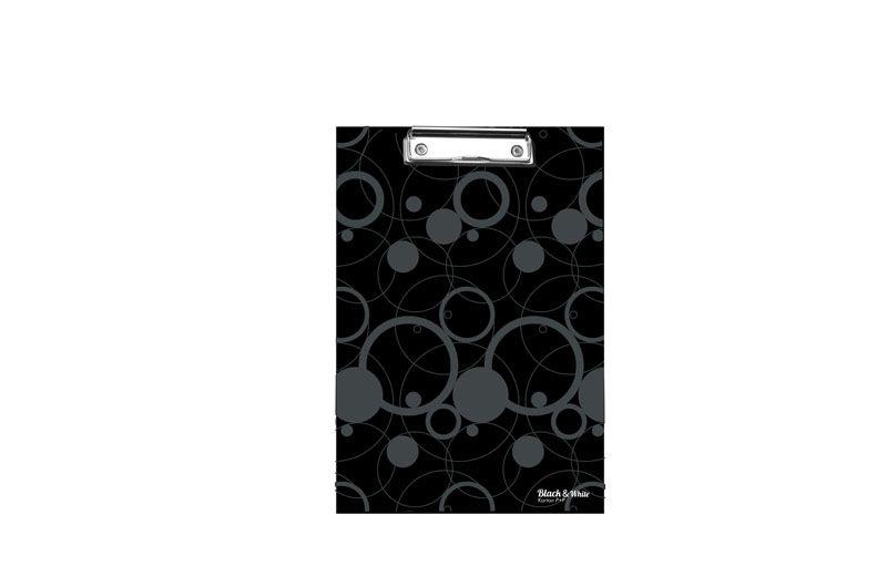 Podložka A4 s klipem Black & White - černá
