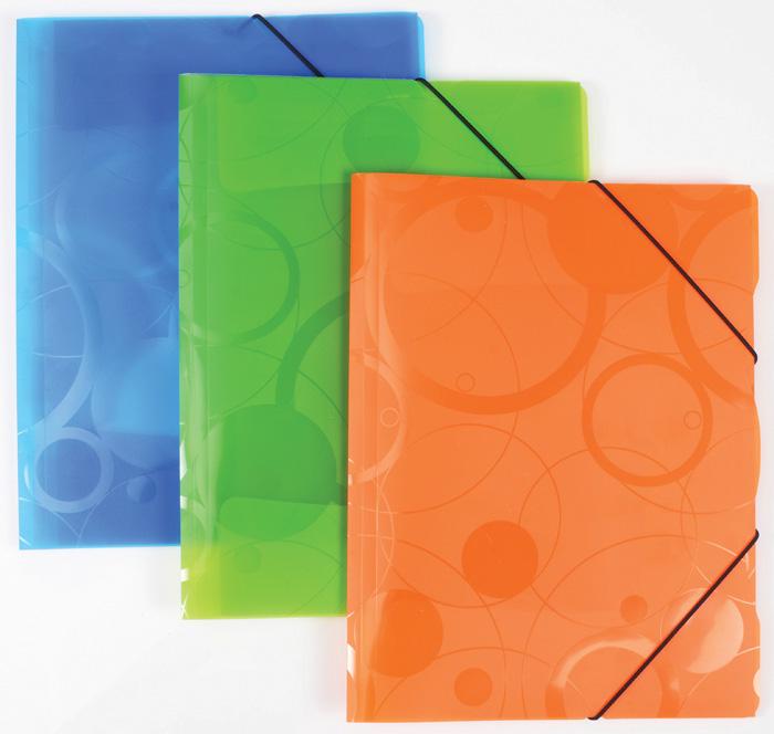 Spisové desky A4 s gumou NeoColori - modrá