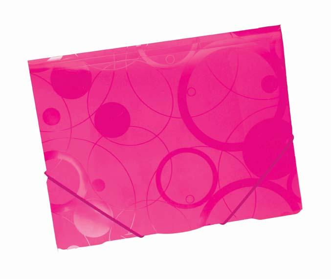 Spisové desky A4 s gumou NeoColori - růžová