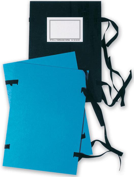 Spisové desky s tkanicí A4 - černá