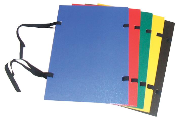 Spisové desky s tkanicí PP Plus - černá