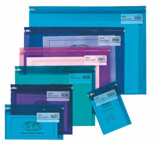 Spisové desky na zip Electra - A5 / barevný mix