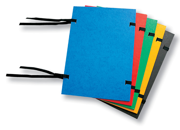 Spisové desky s tkanicí prešpánové - černá