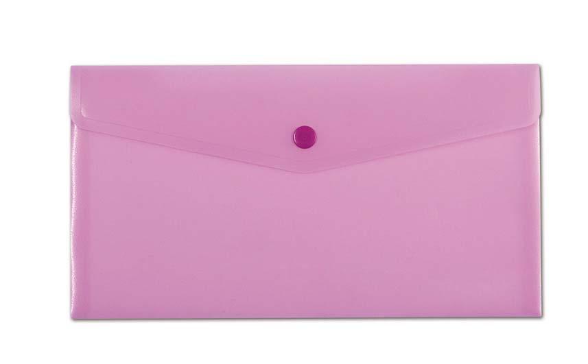 Spisové desky v pastelových barvách - DL / růžová