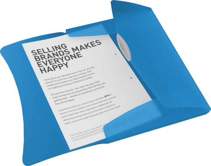 Spisové desky A4 s gumou Vivida - modrá