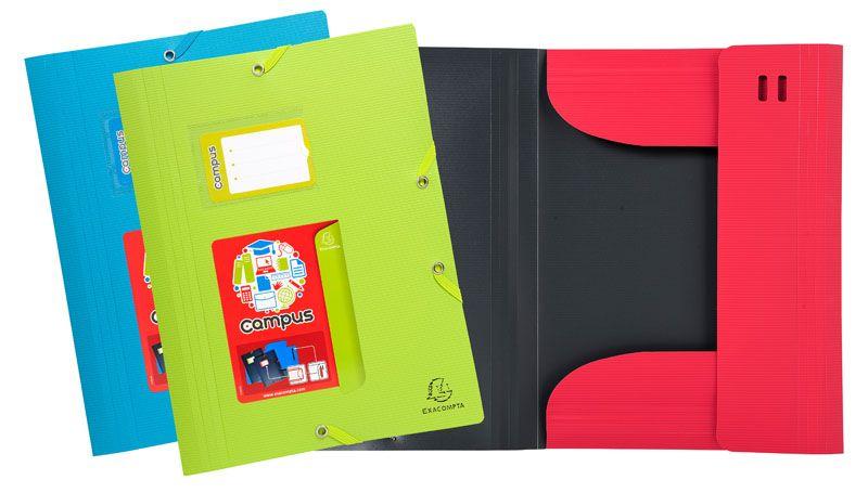 Spisové desky A4 s gumou Campus MAXI - zelená