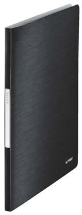 Prezentační desky A4 Leitz Style - 20 kapes / saténově černá