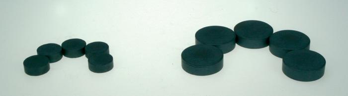 Magnety černé Durox - průměr 16 mm