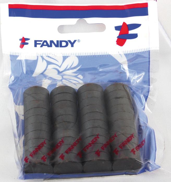 Magnety černé Fandy - průměr 20 mm / 30 ks