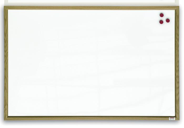 Tabule bílá magnetická v dřevěném rámu - 60 x 40 cm