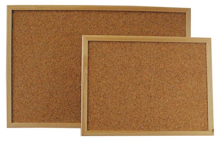 Tabule korkové - 90 x 120 cm / dřevěný rám