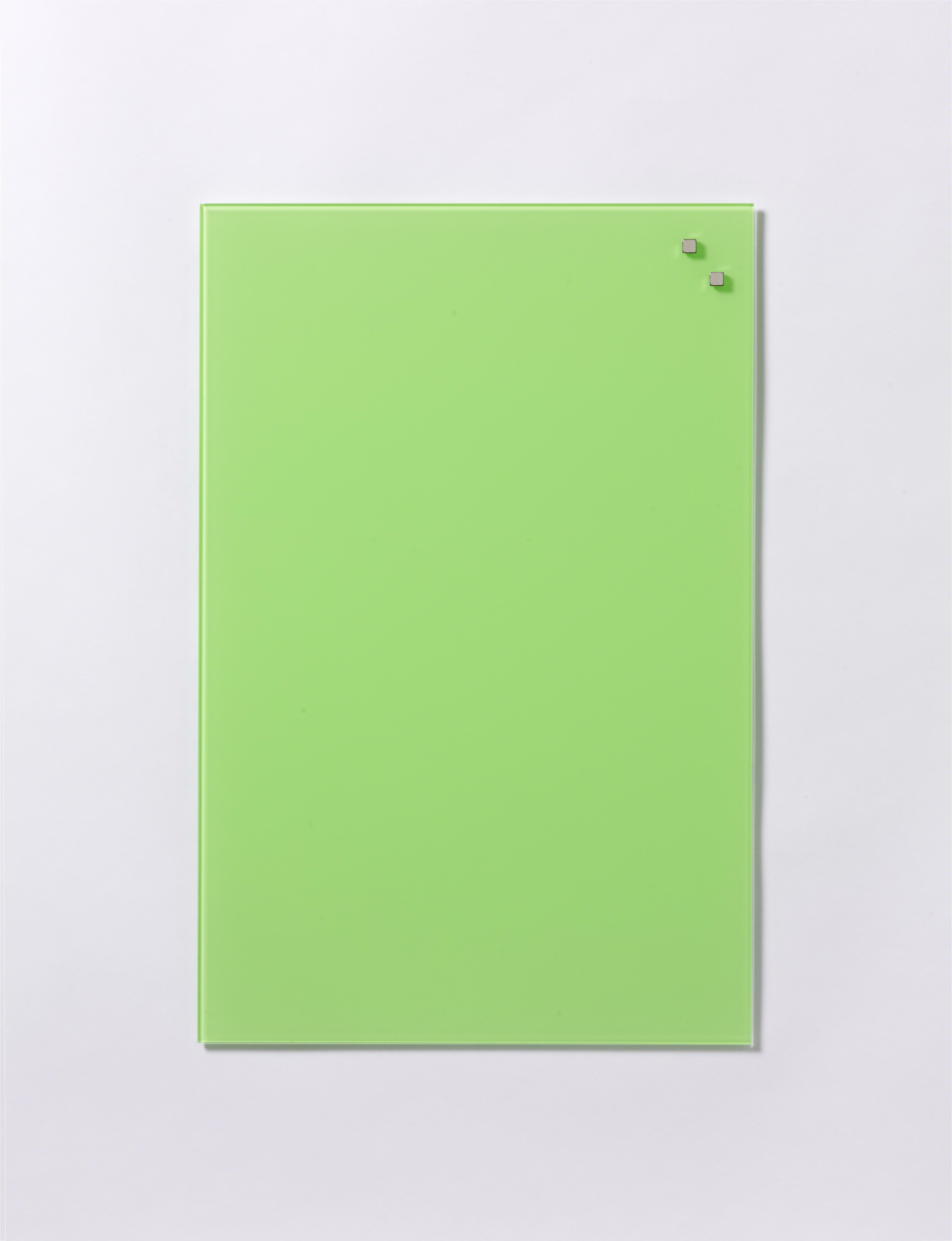 Tabule magnetické skleněné - 40 x 60 cm / sv. zelená
