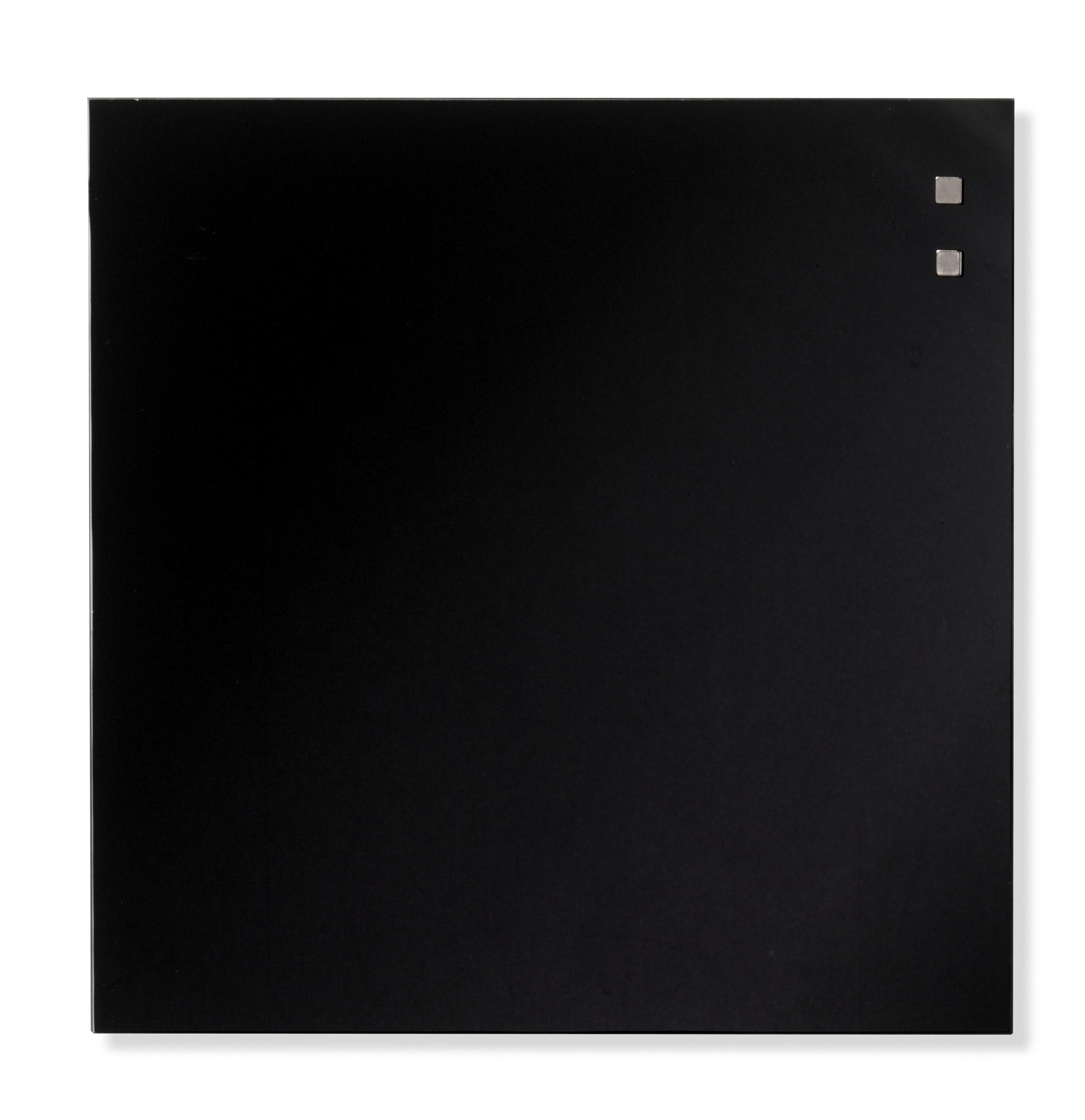 Tabule magnetické skleněné - 35 x 35 cm / černá