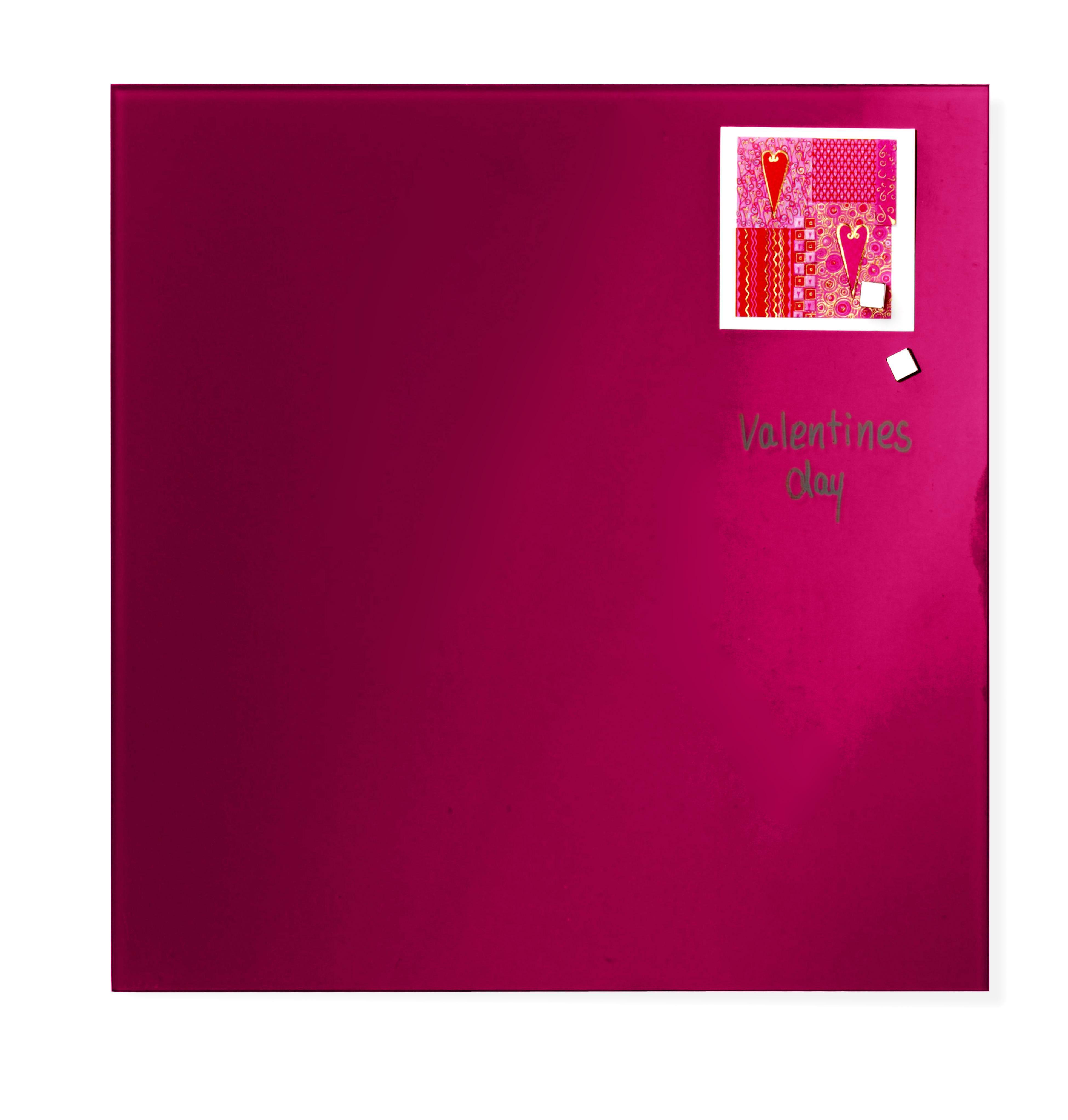 Tabule magnetické skleněné - 35 x 35 cm / červená