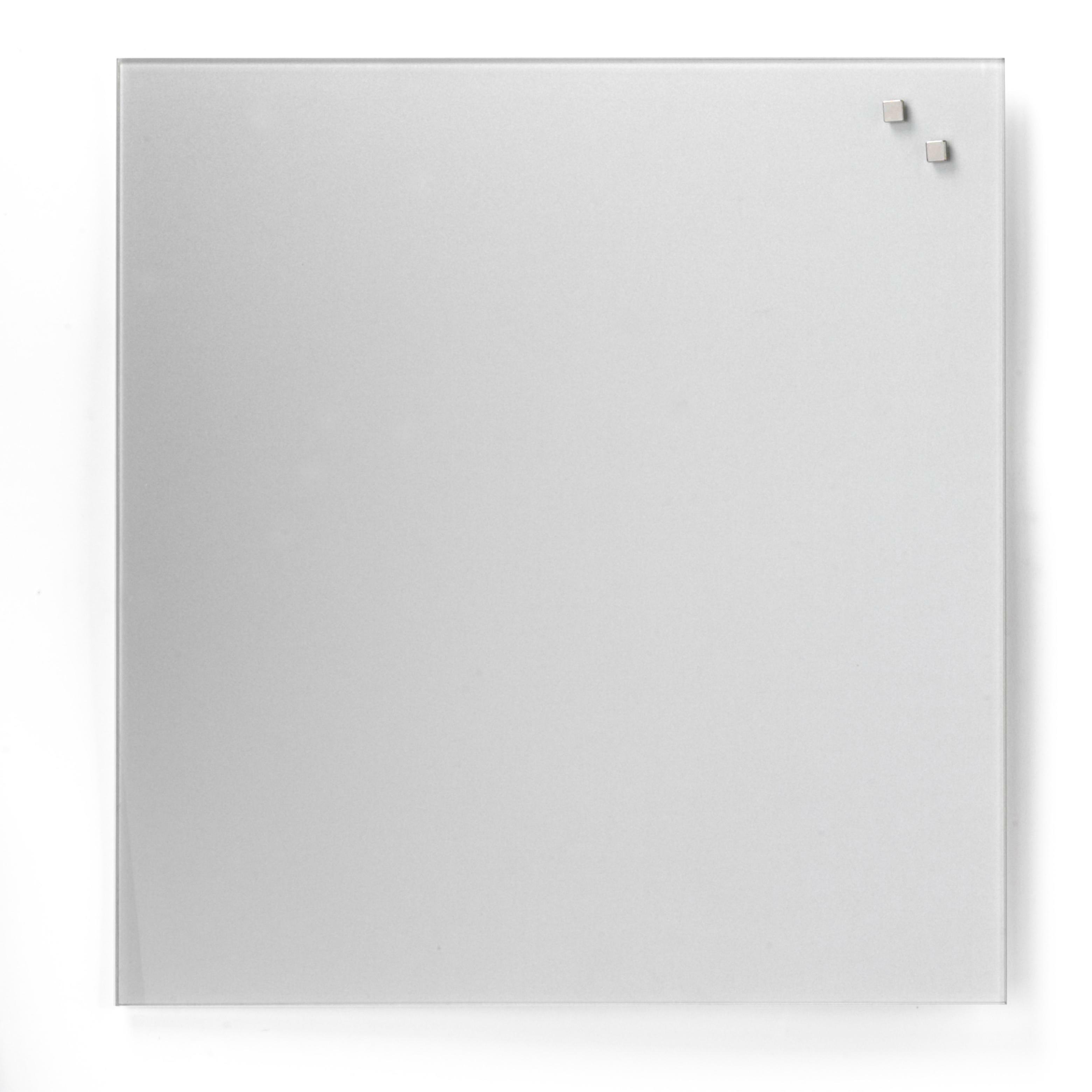 Tabule magnetické skleněné - 45 x 45 cm / stříbrná