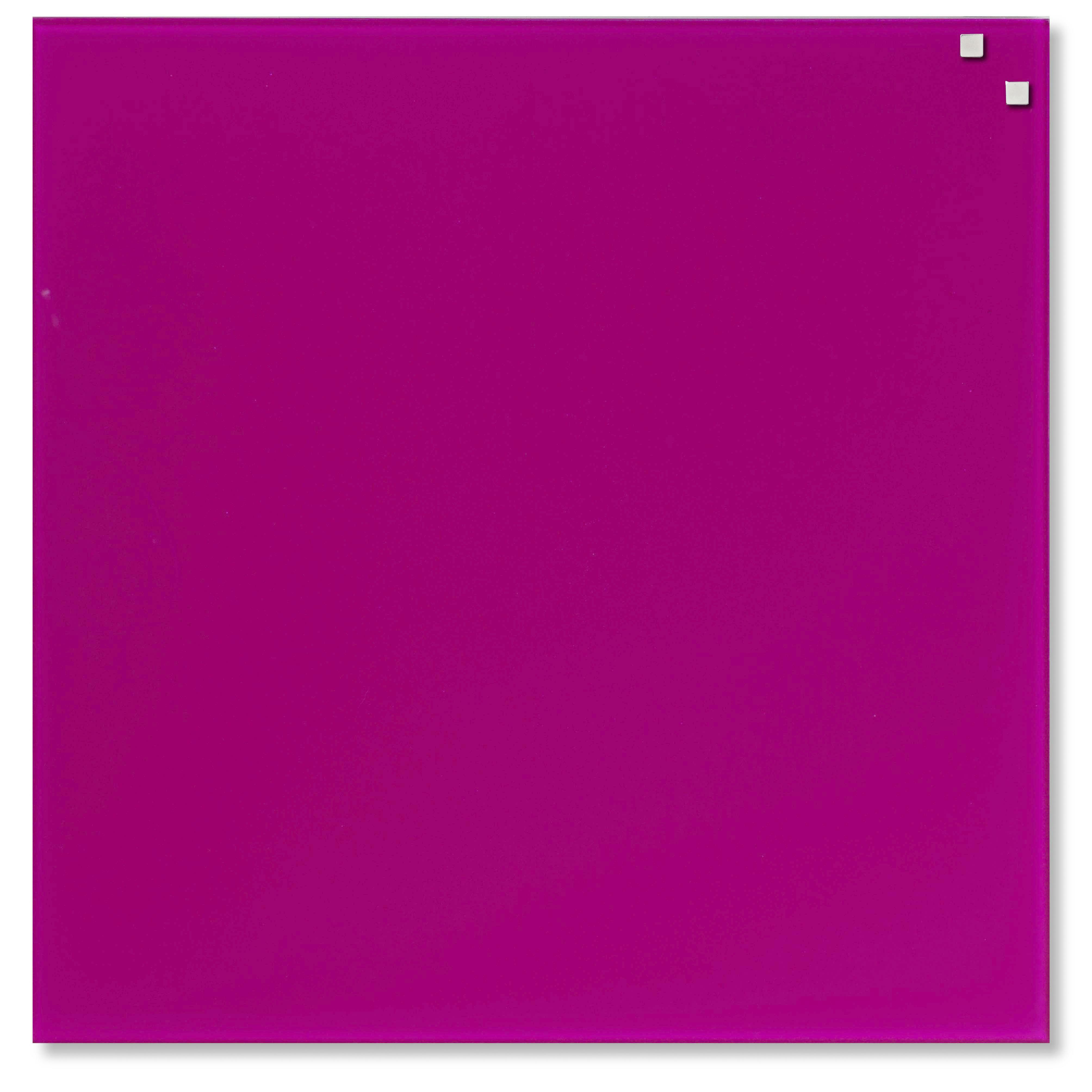 Tabule magnetické skleněné - 45 x 45 cm / růžová