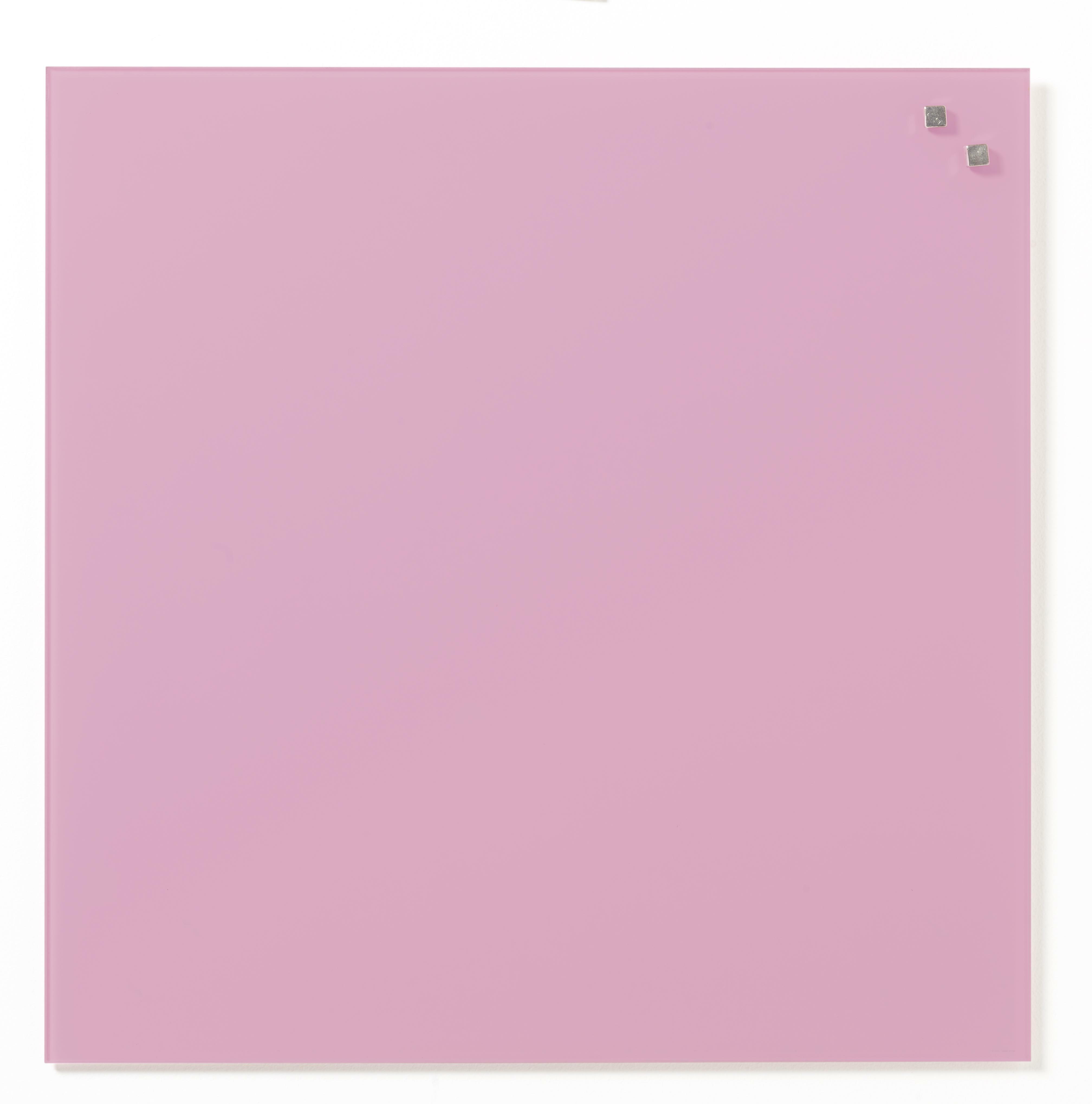 Tabule magnetické skleněné - 45 x 45 cm / sv. růžová