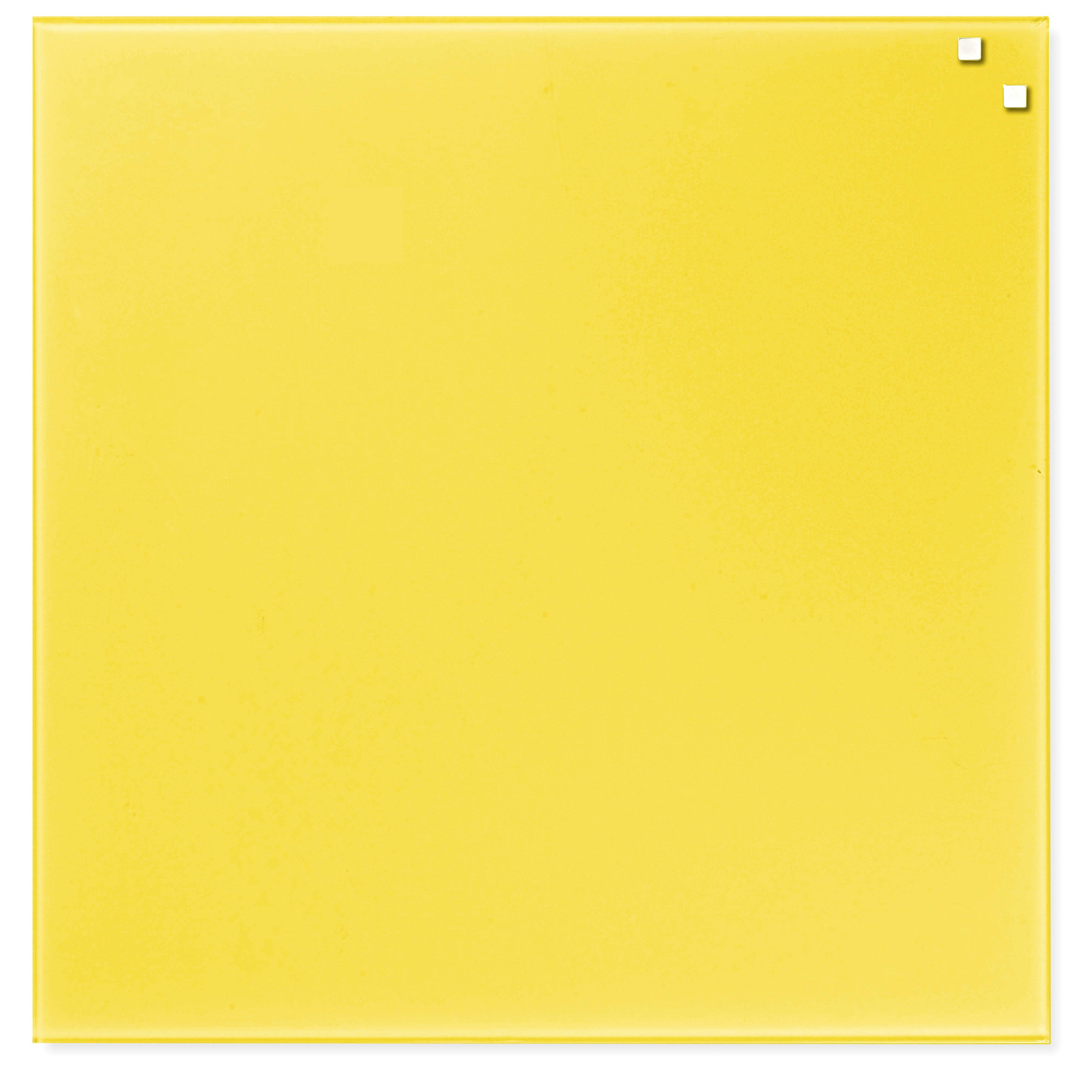 Tabule magnetické skleněné - 45 x 45 cm / žlutá