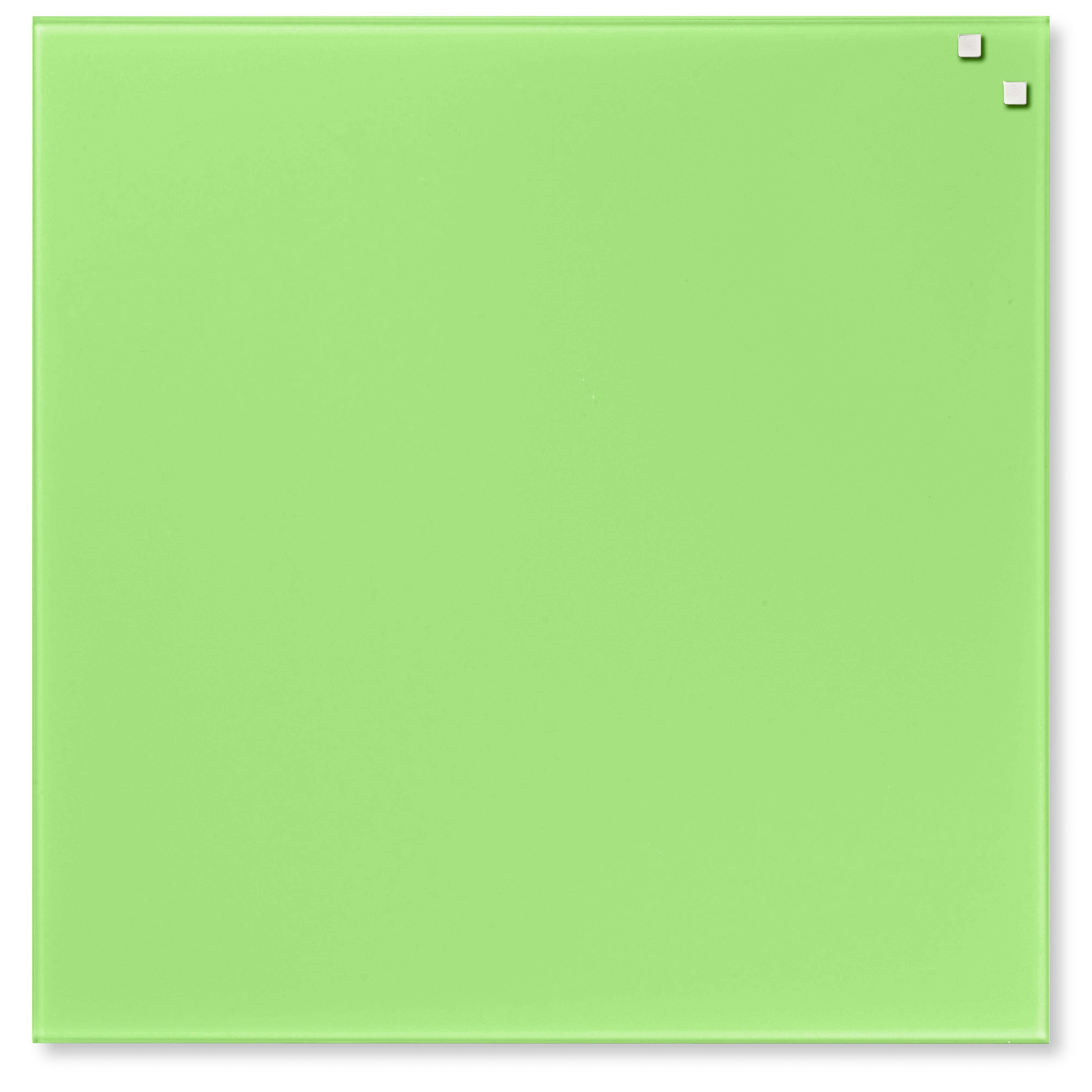Tabule magnetické skleněné - 45 x 45 cm / sv. zelená