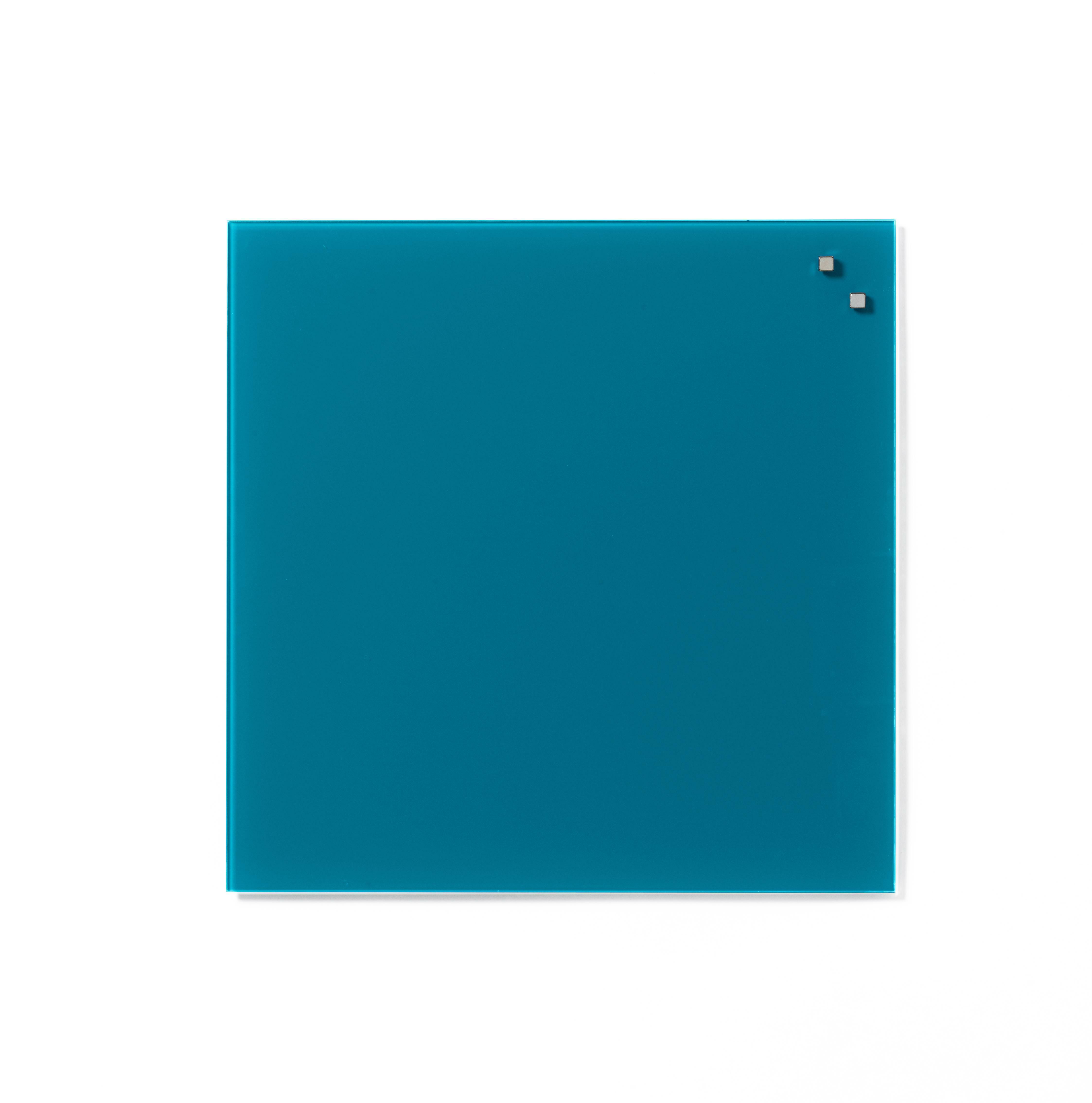 Tabule magnetické skleněné - 45 x 45 cm / modro - zelená