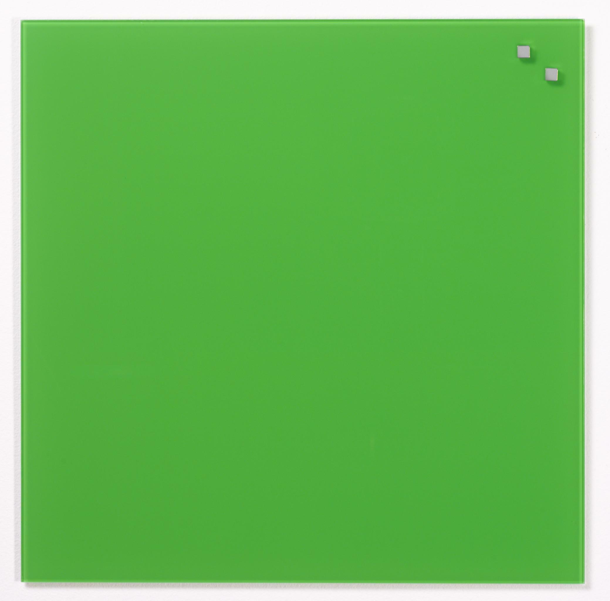 Tabule magnetické skleněné - 45 x 45 cm / zelená