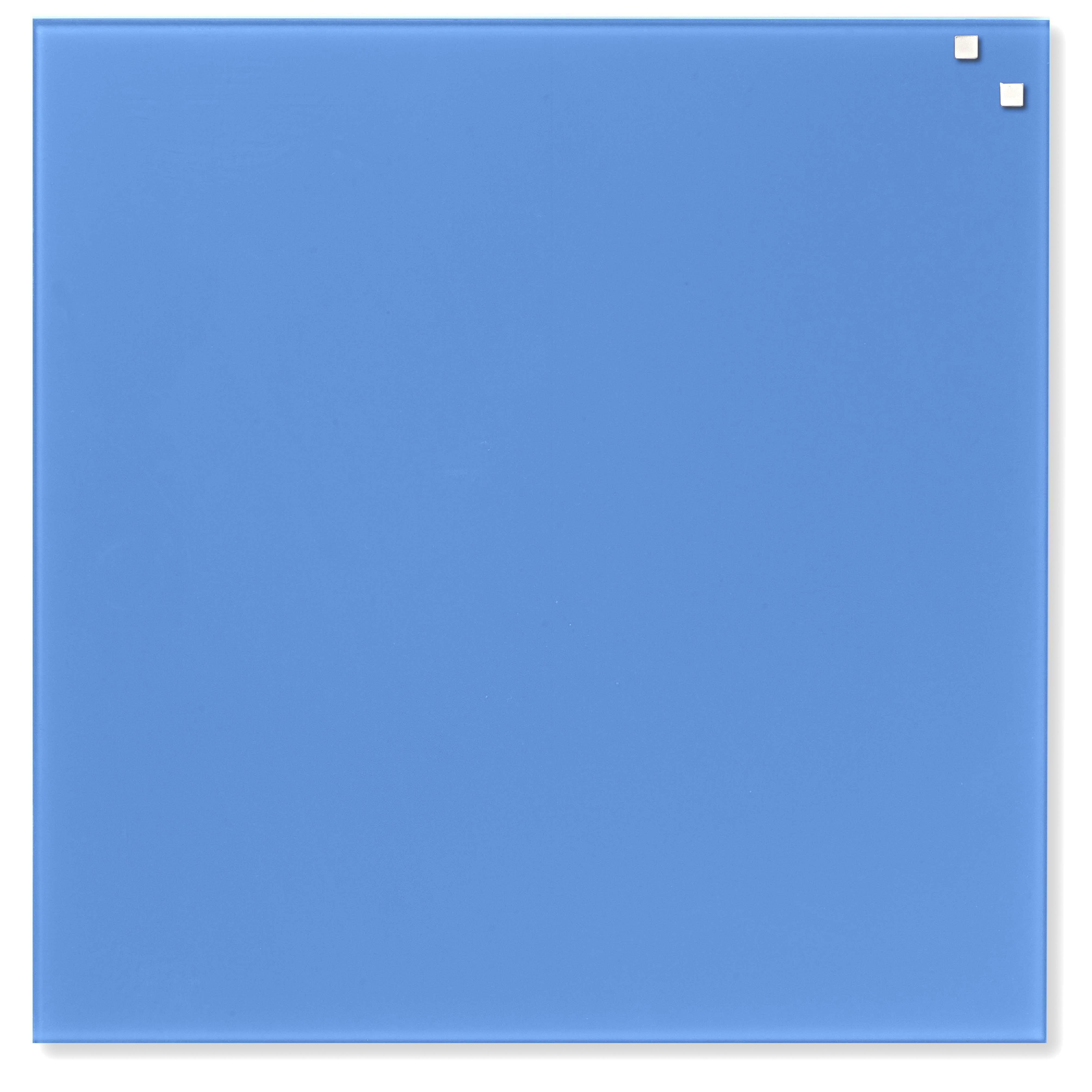 Tabule magnetické skleněné - 45 x 45 cm / kobaltová modrá