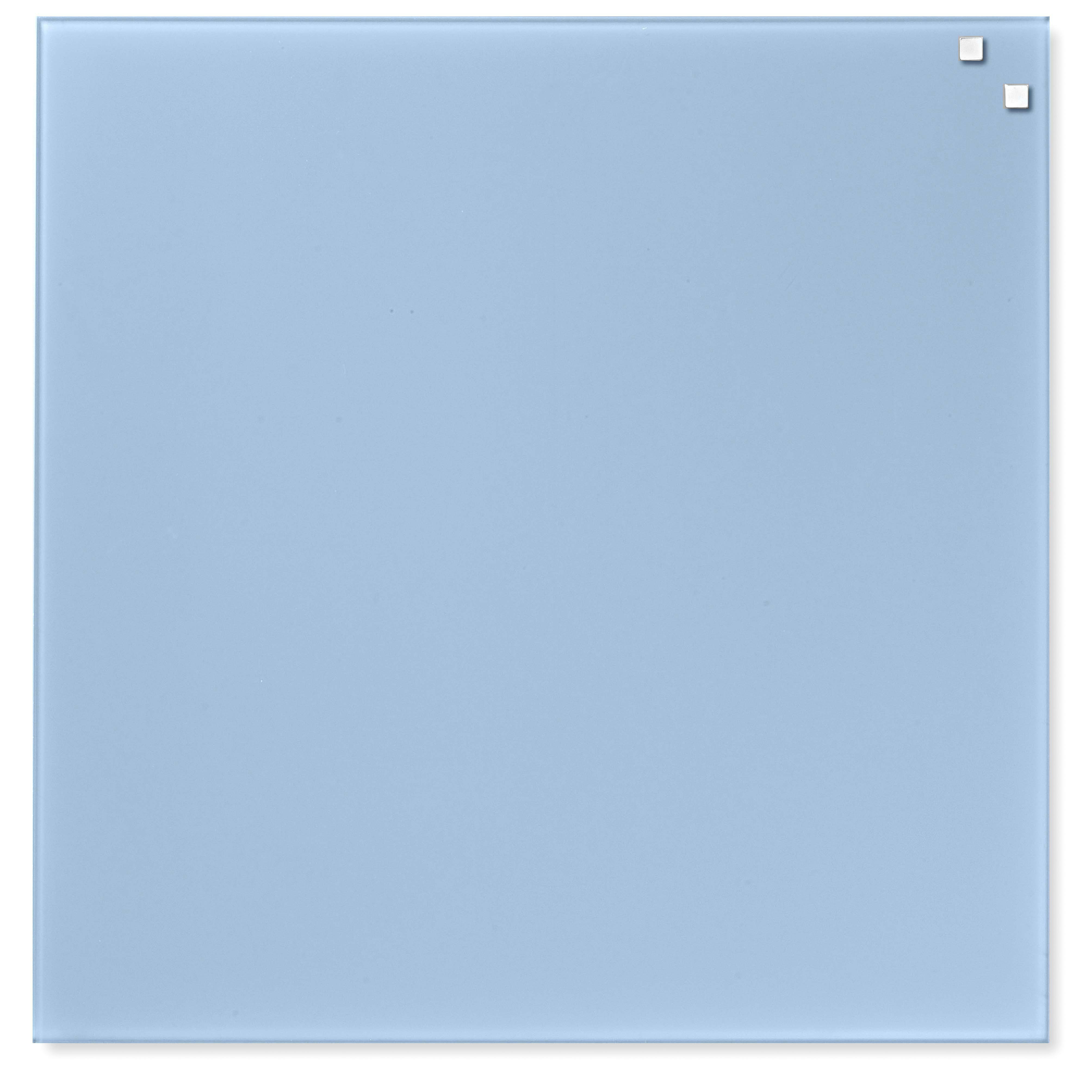 Tabule magnetické skleněné - 45 x 45 cm / sv. modrá