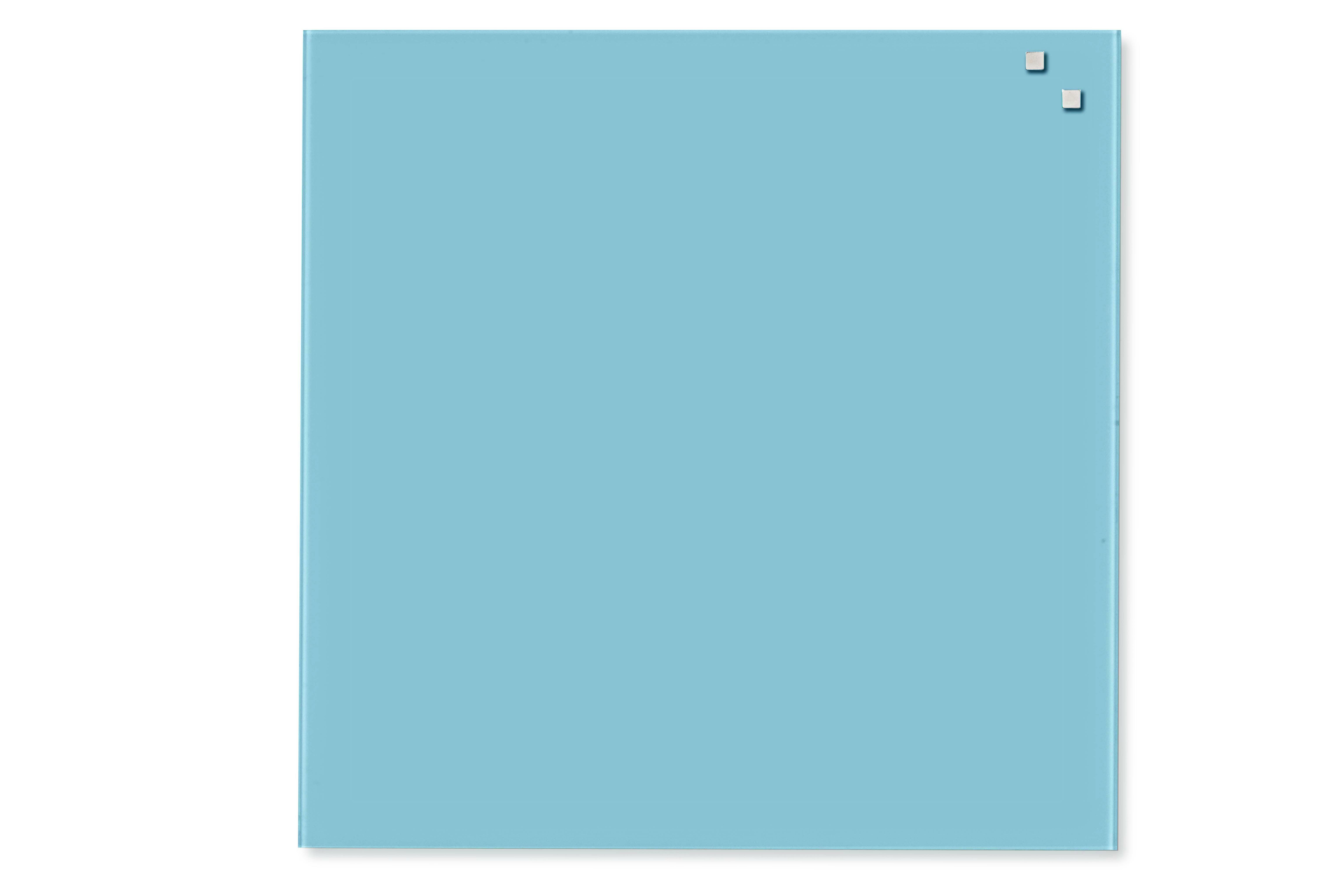 Tabule magnetické skleněné - 45 x 45 cm / tyrkysová