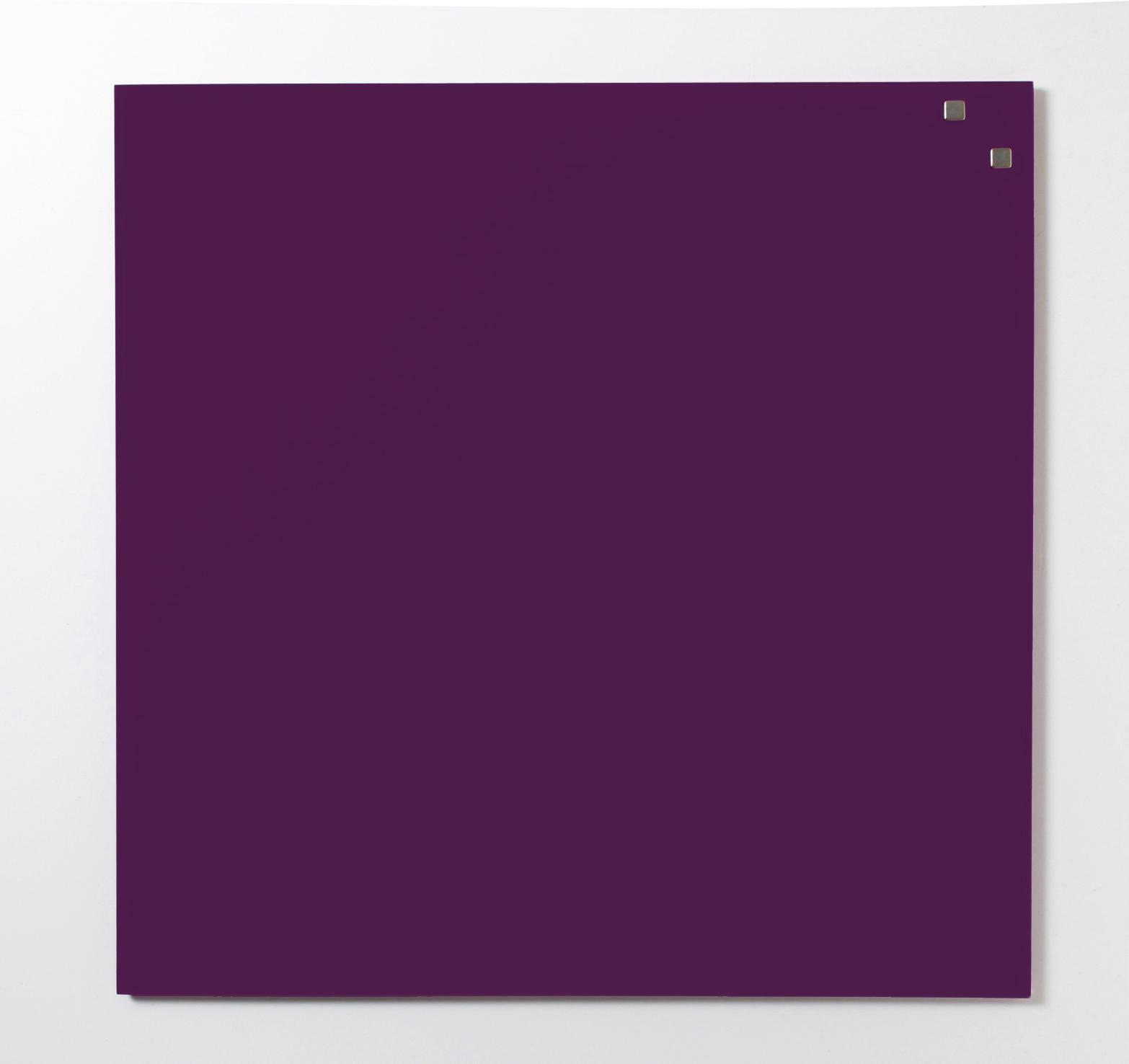 Tabule magnetické skleněné - 45 x 45 cm / tmavě fialová