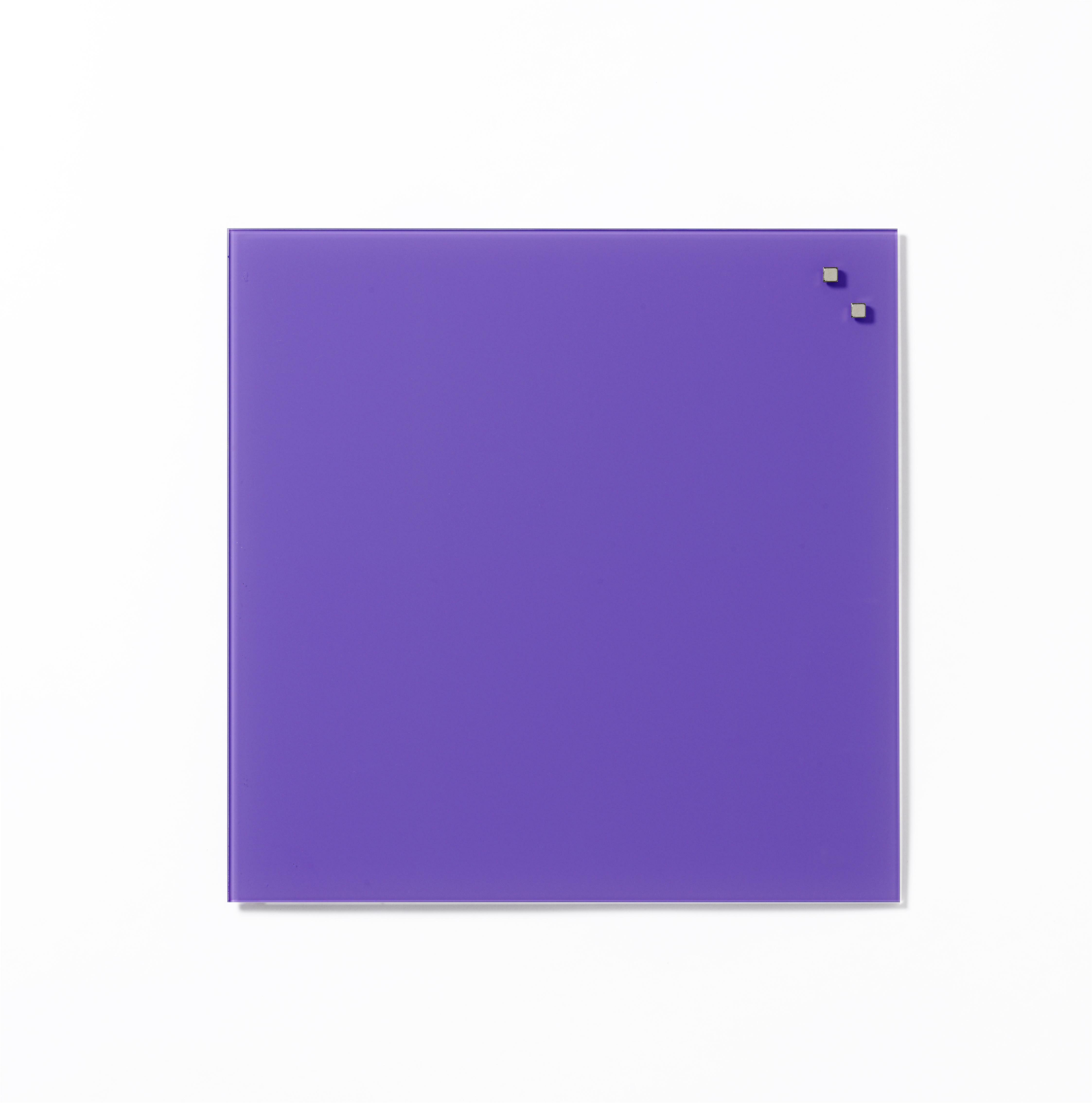 Tabule magnetické skleněné - 45 x 45 cm / fialová