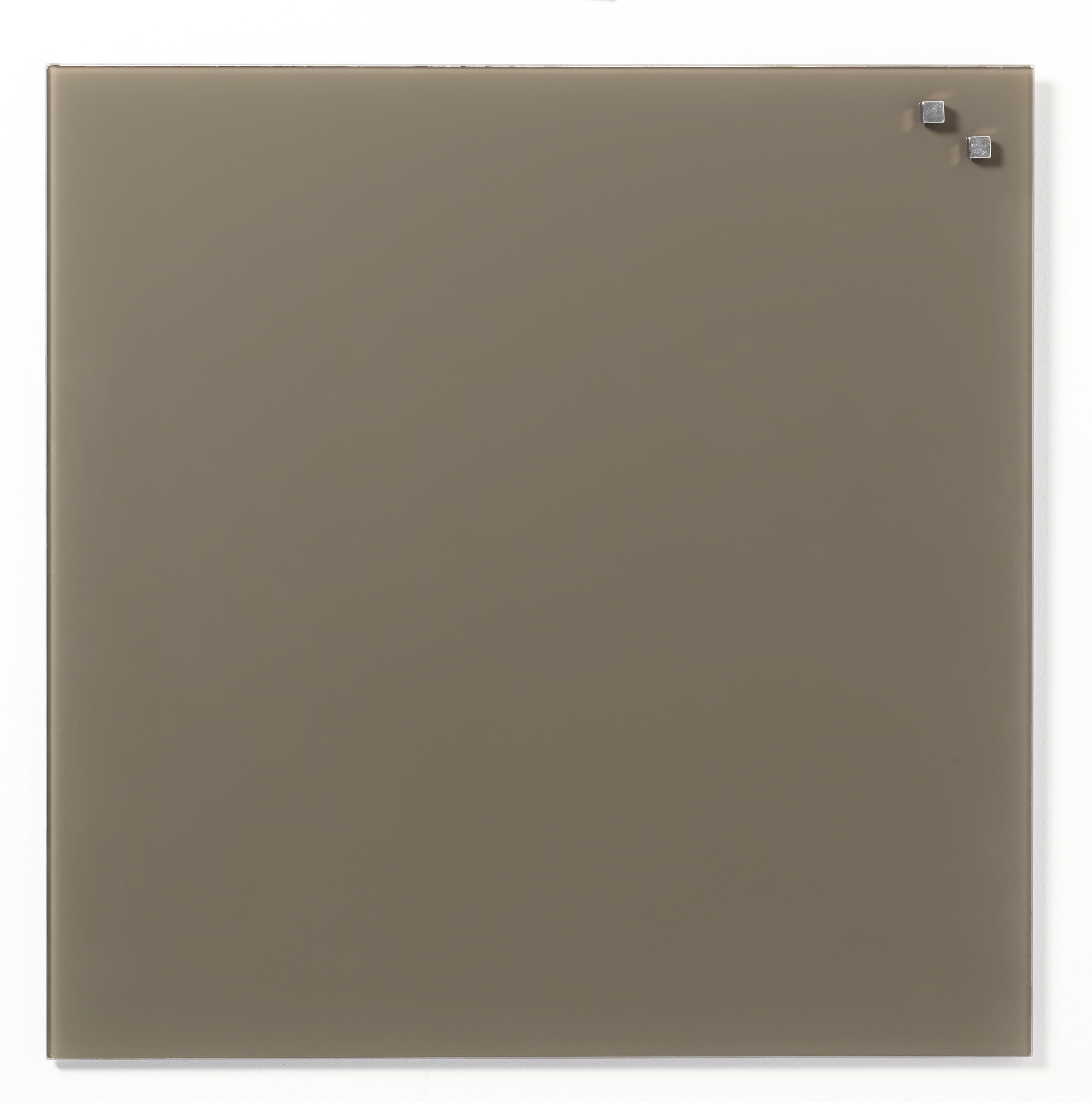 Tabule magnetické skleněné - 45 x 45 cm / béžová