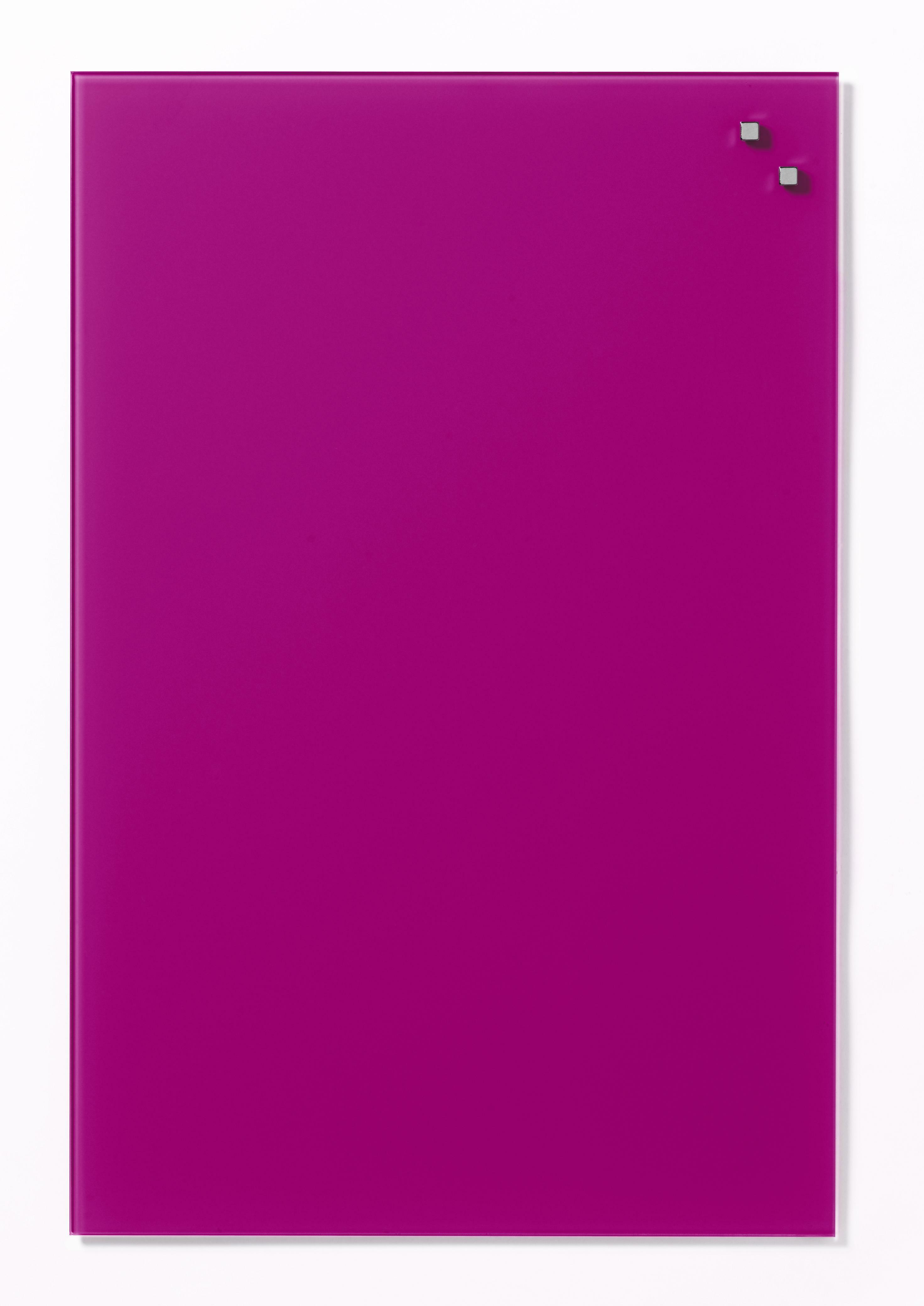 Tabule magnetické skleněné - 40 x 60 cm / růžová