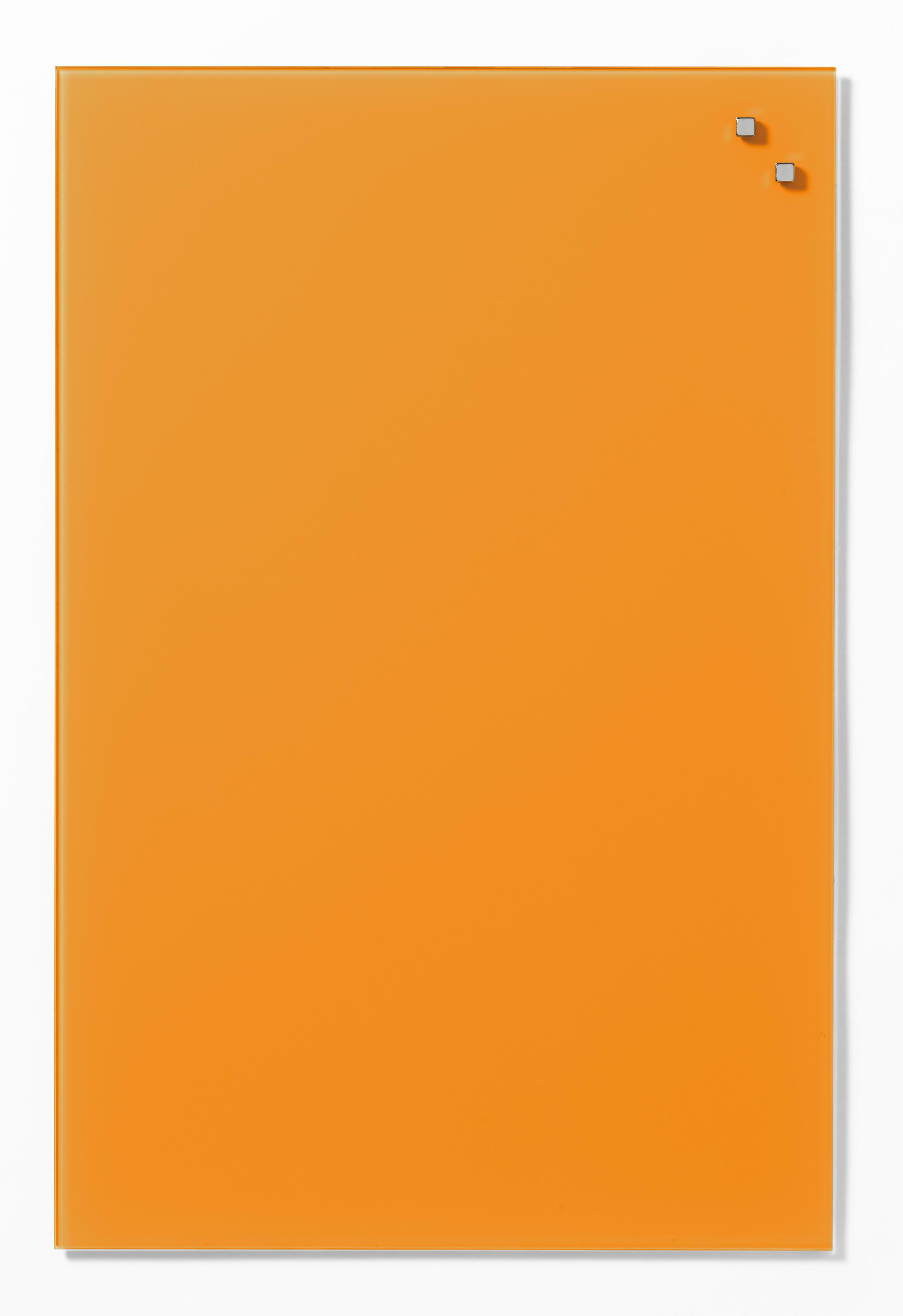 Tabule magnetické skleněné - 40 x 60 cm / oranžová