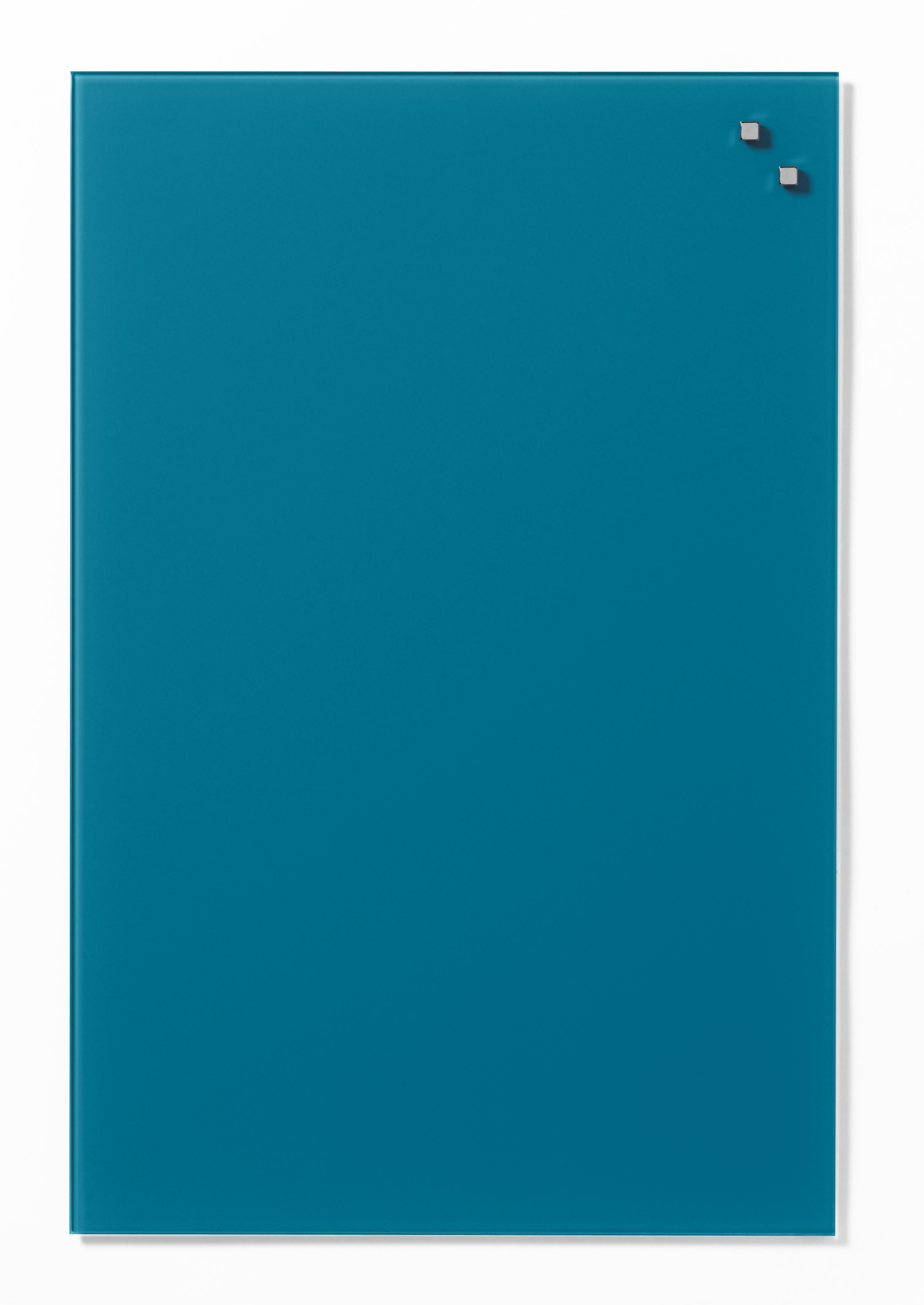 Tabule magnetické skleněné - 40 x 60 cm / modro-zelená