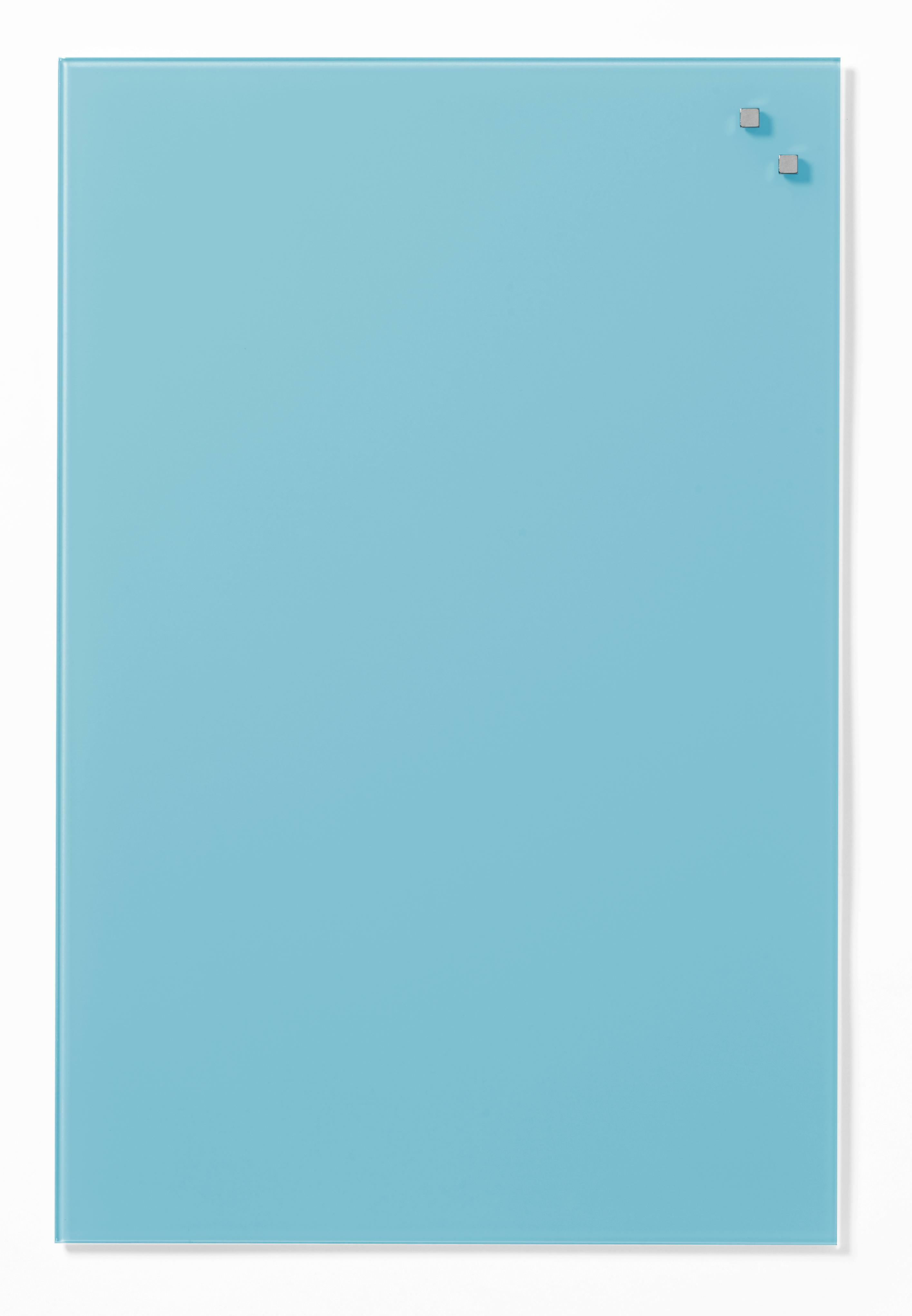 Tabule magnetické skleněné - 40 x 60 cm / tyrkysová