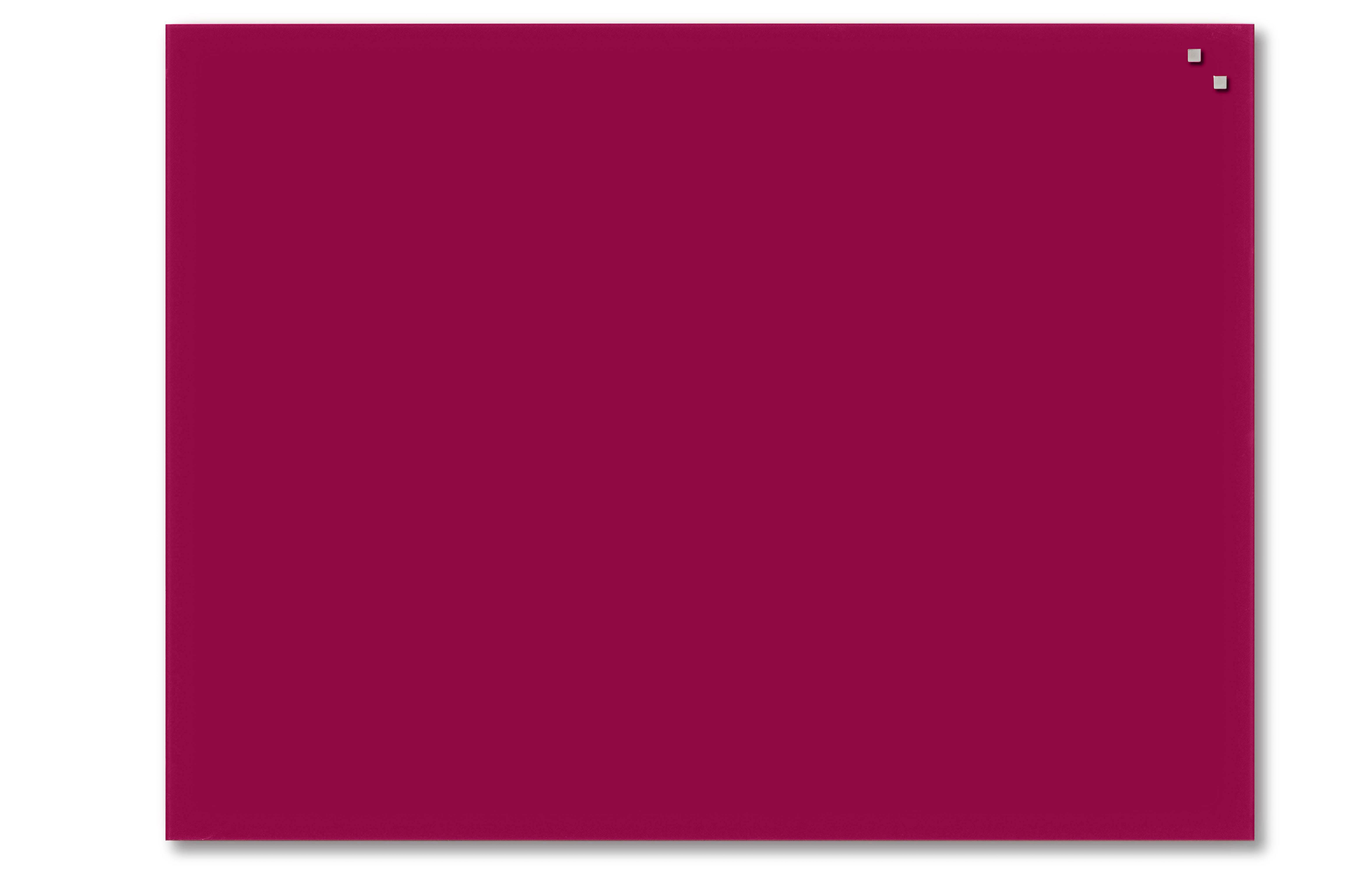 Tabule magnetické skleněné - 60 x 80 cm / červená