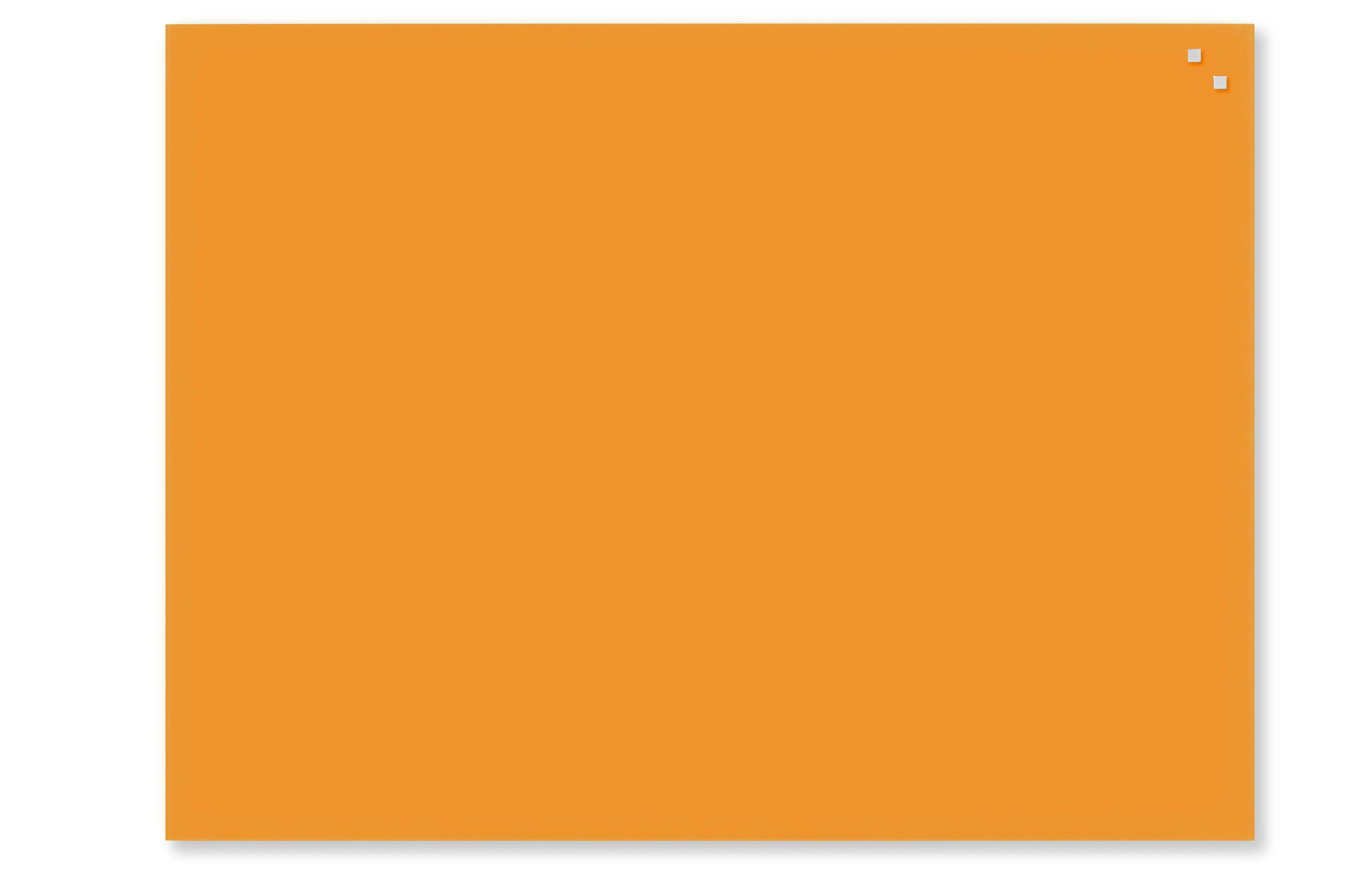 Tabule magnetické skleněné - 60 x 80 cm / oranžová