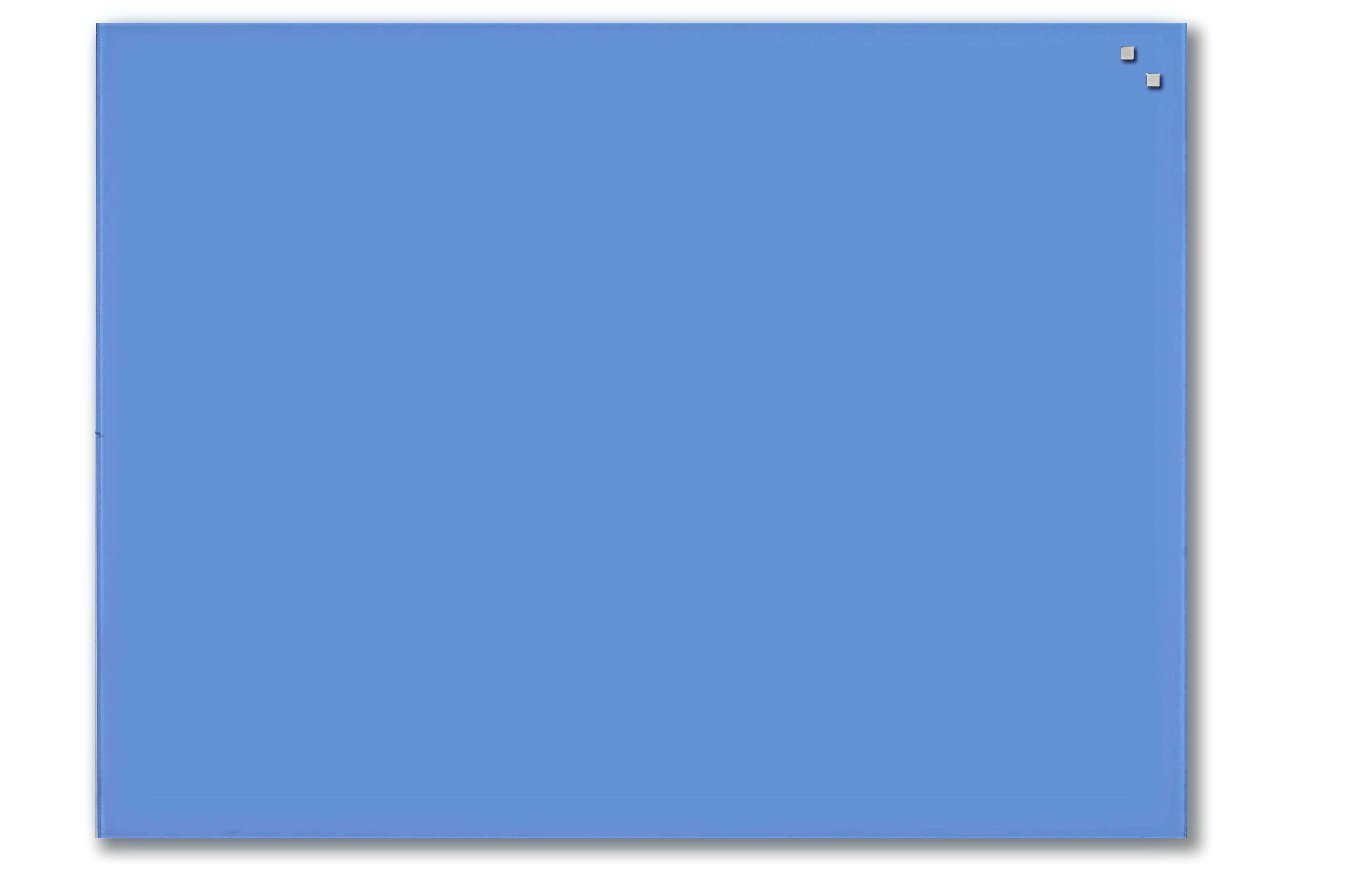 Tabule magnetické skleněné - 60 x 80 cm / kobaltová modrá