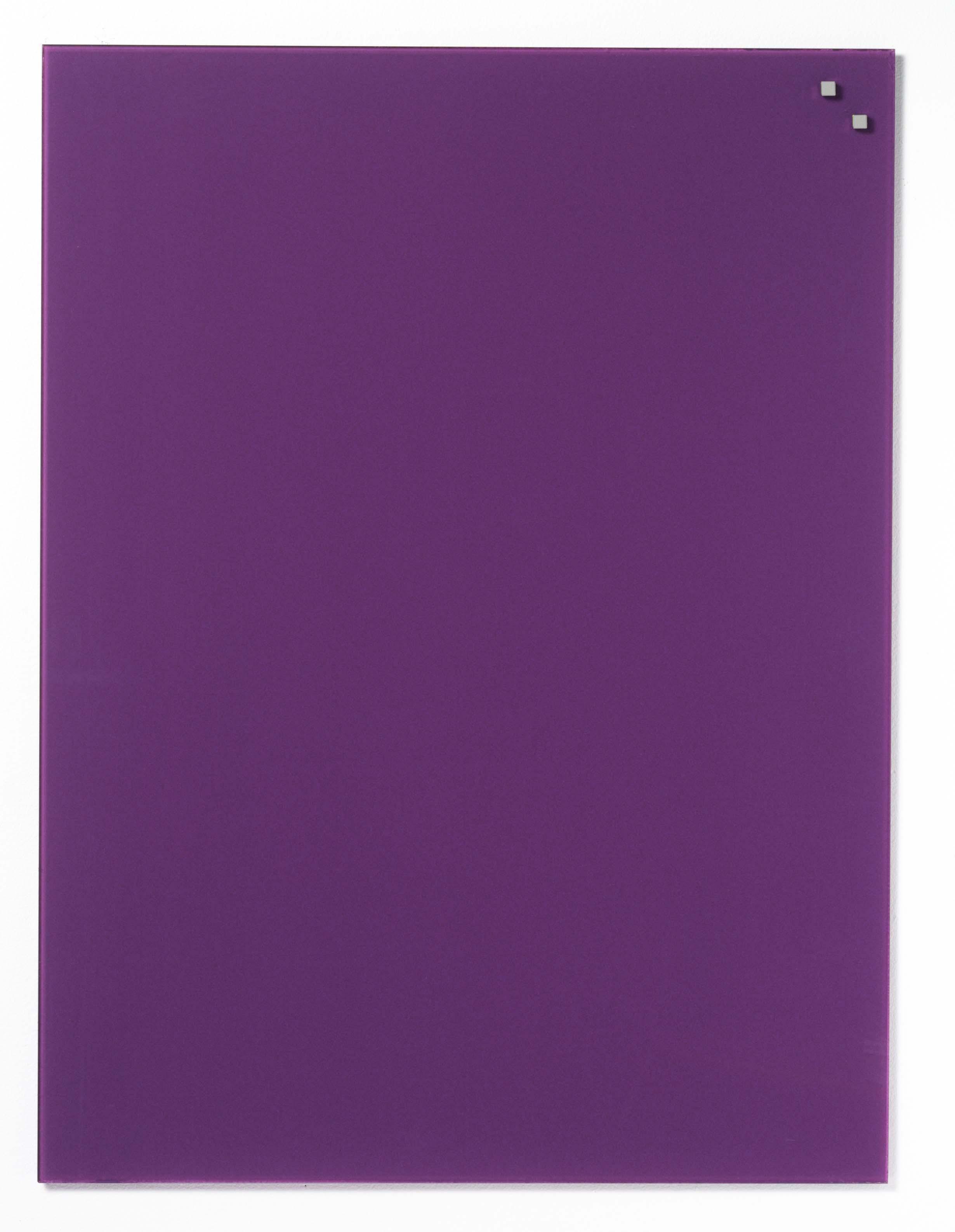 Tabule magnetické skleněné - 60 x 80 cm / tmavě fialová