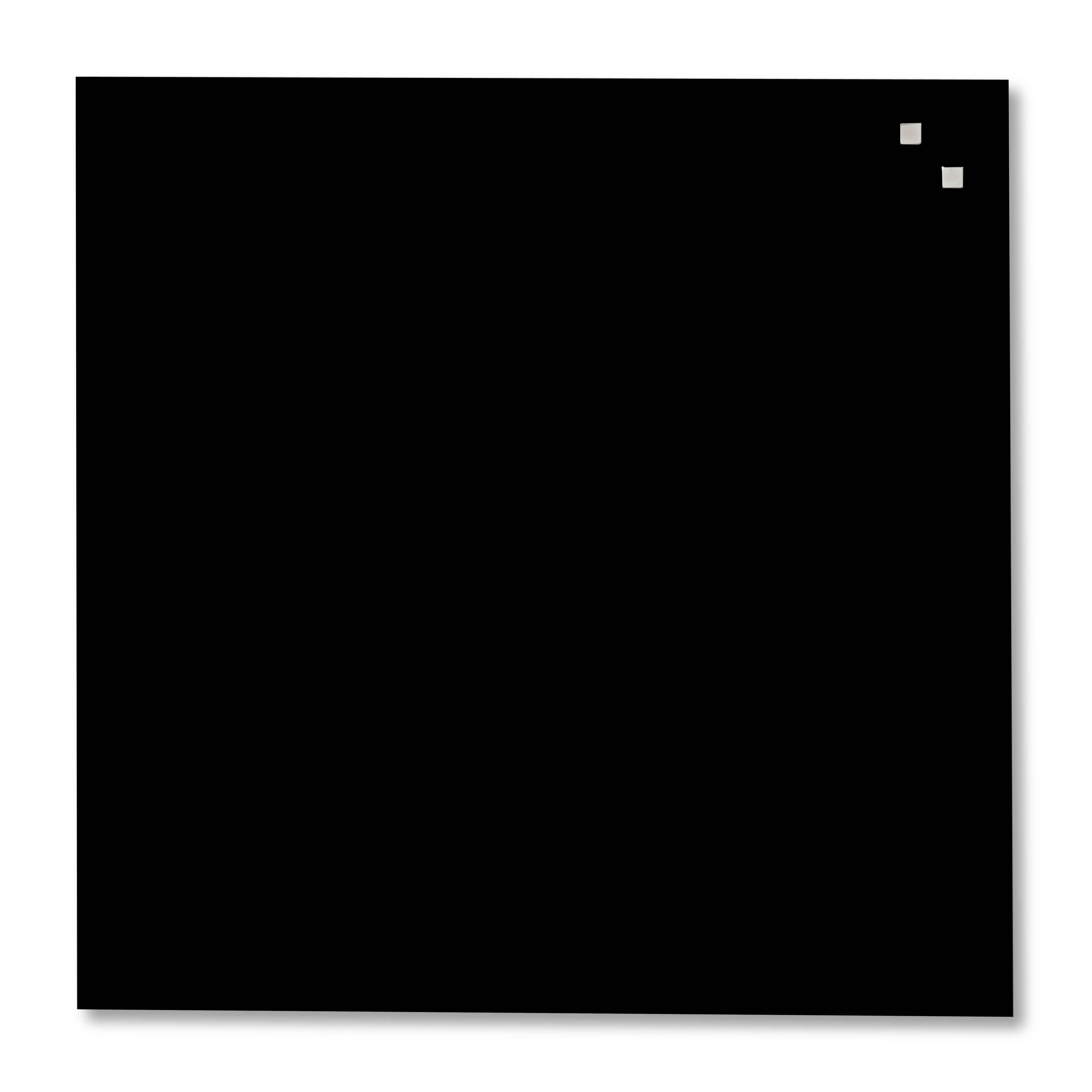 Tabule magnetické skleněné - 100 x 100 cm / černá