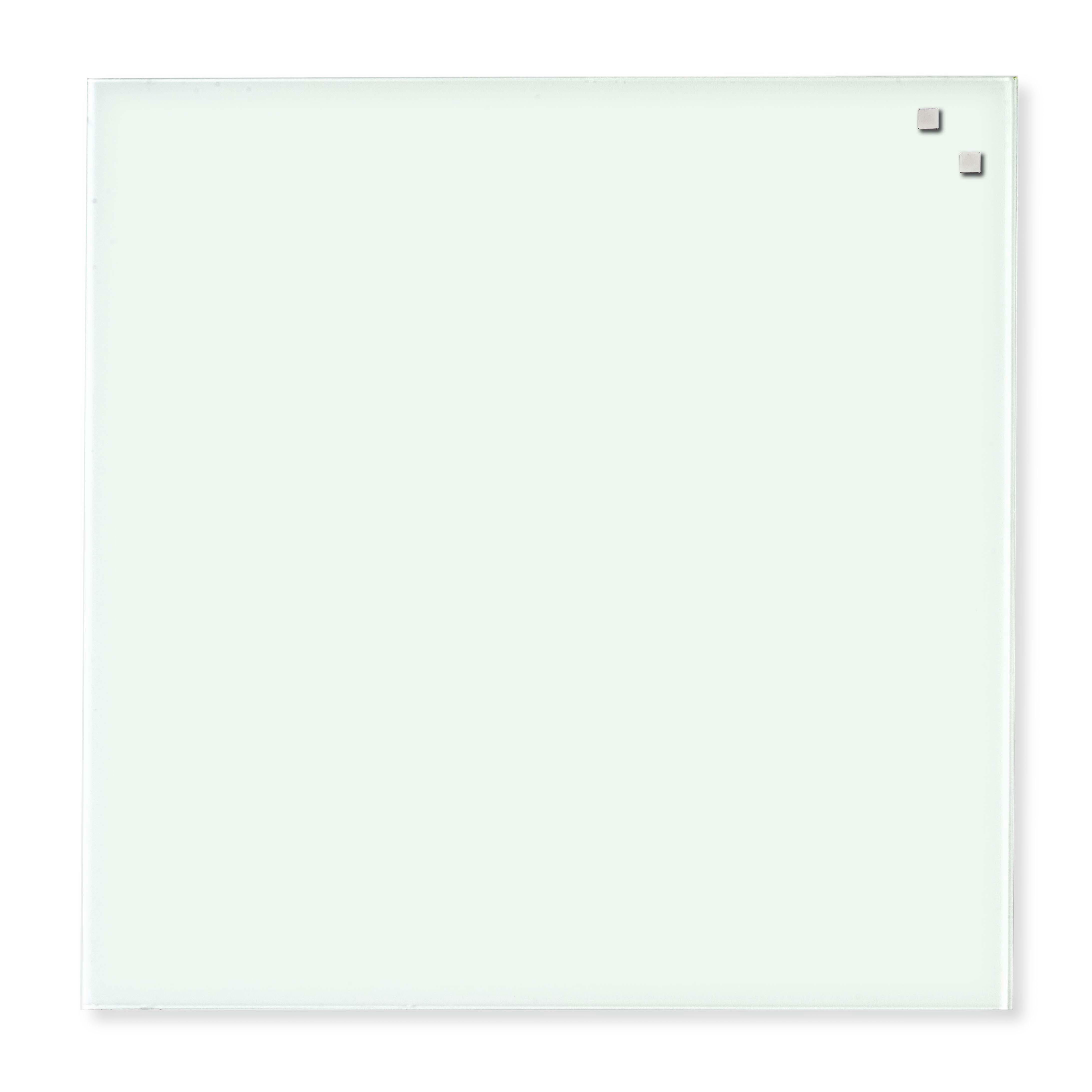 Tabule magnetické skleněné - 100 x 100 cm / bílá