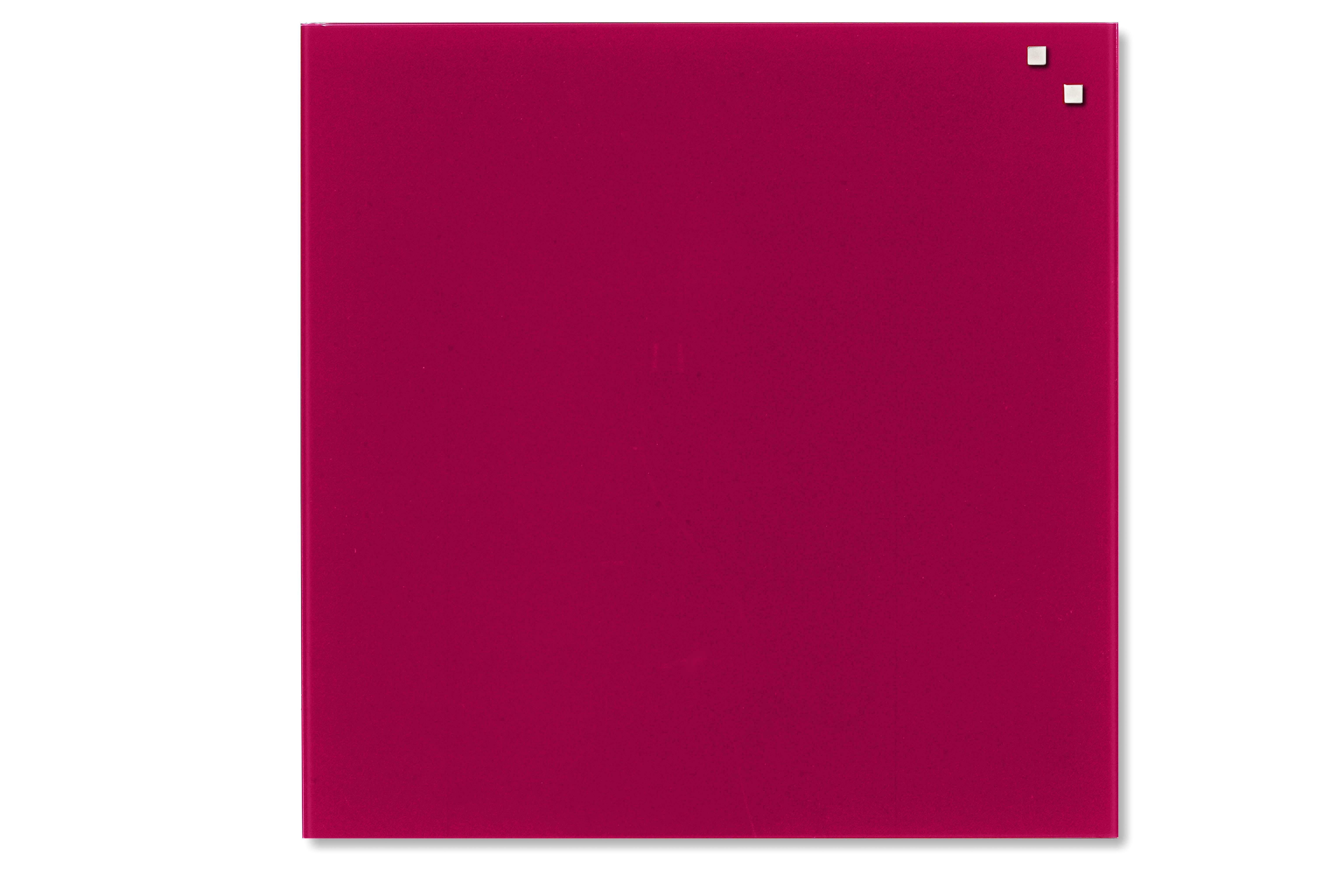 Tabule magnetické skleněné - 100 x 100 cm / červená