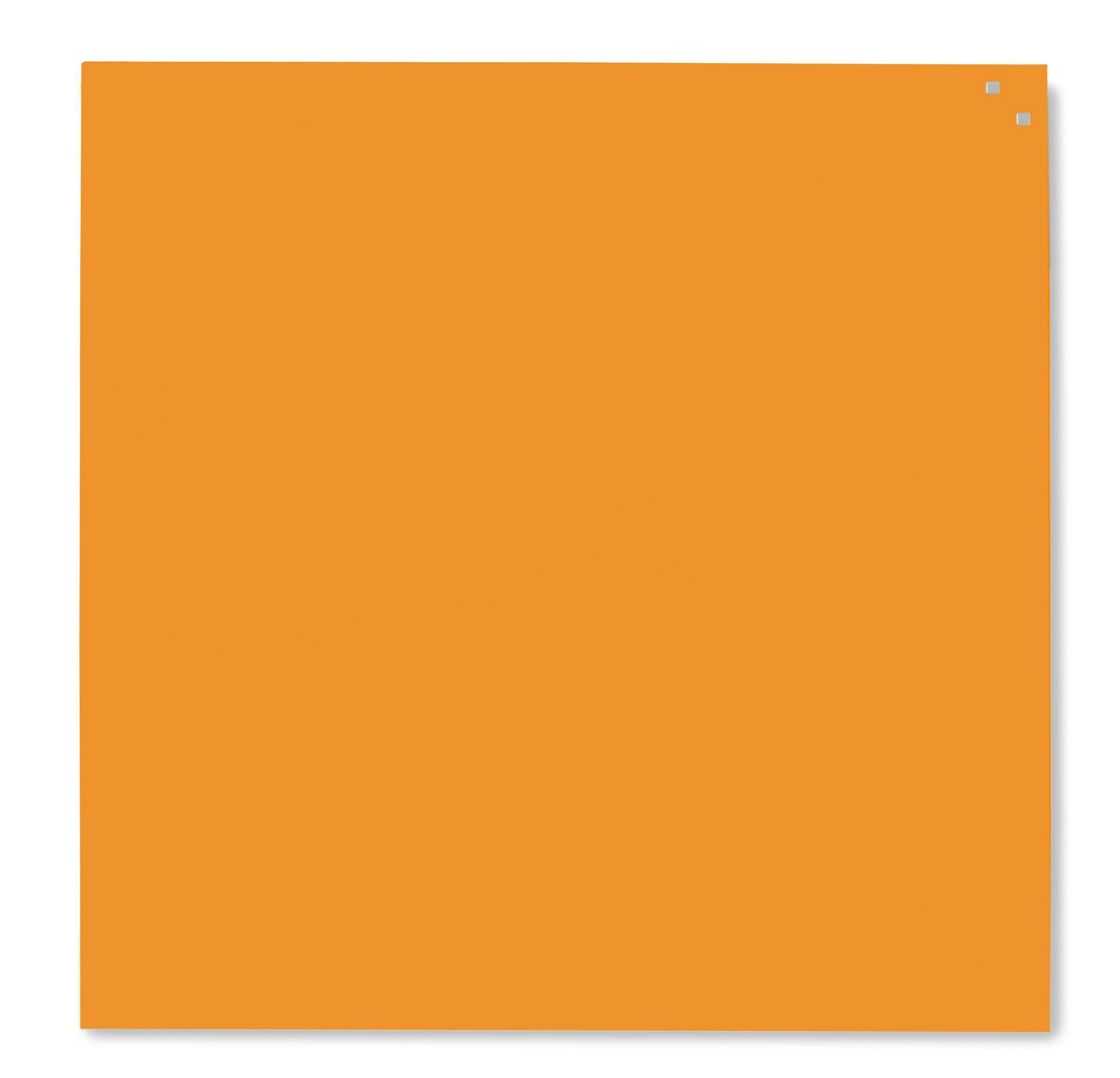 Tabule magnetické skleněné - 100 x 100 cm / oranžová